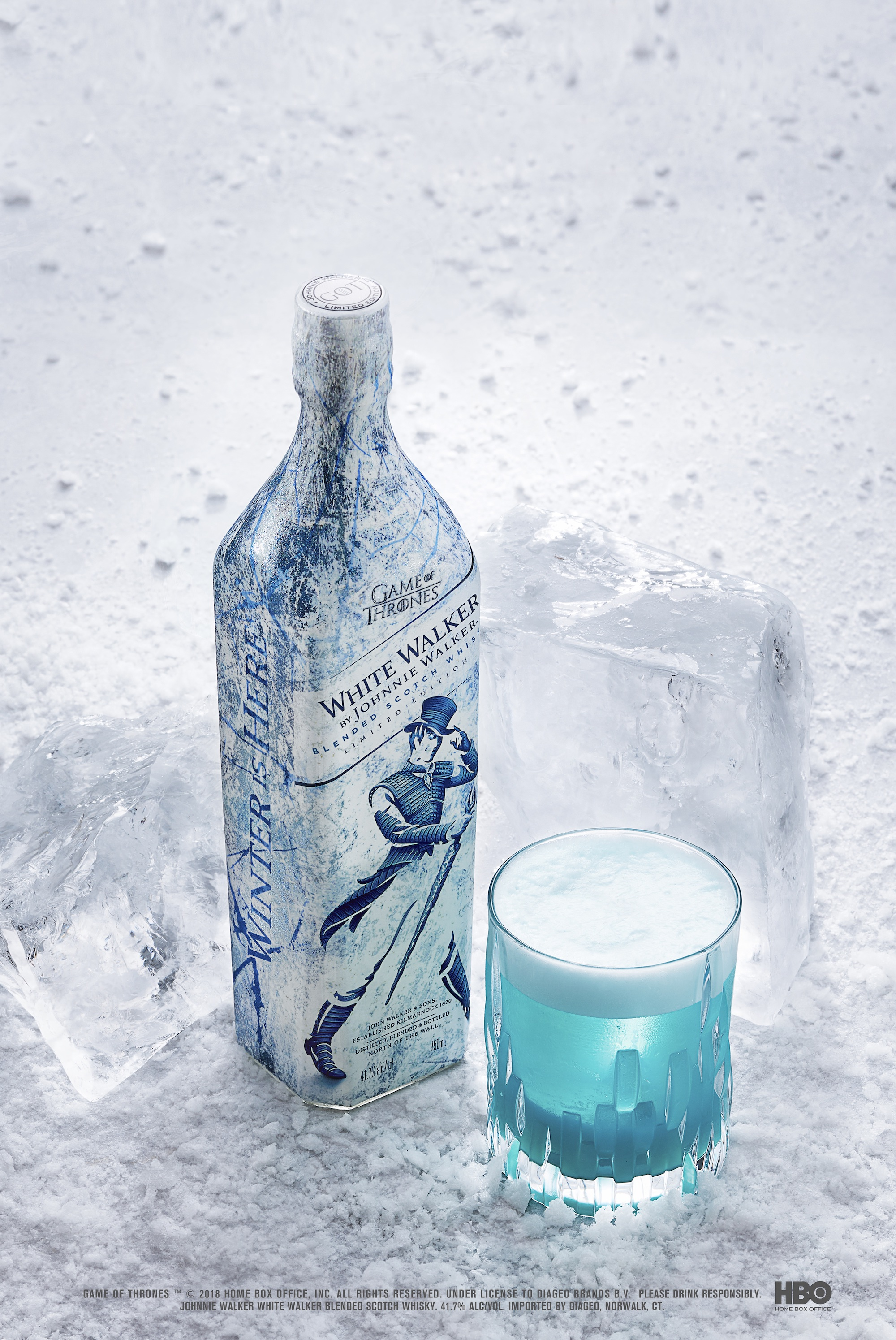 White Walker by Johnnie Walker Night King's Sour serve with bottle