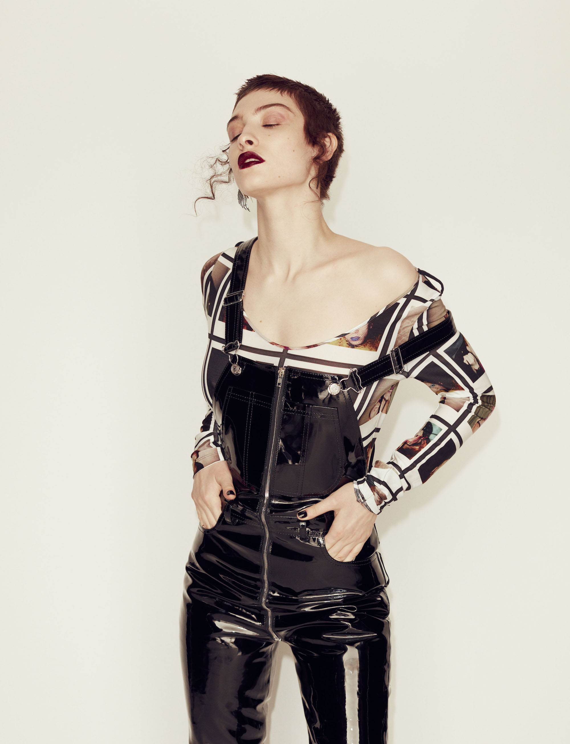 Metal Guru fashion editorial dungarees
