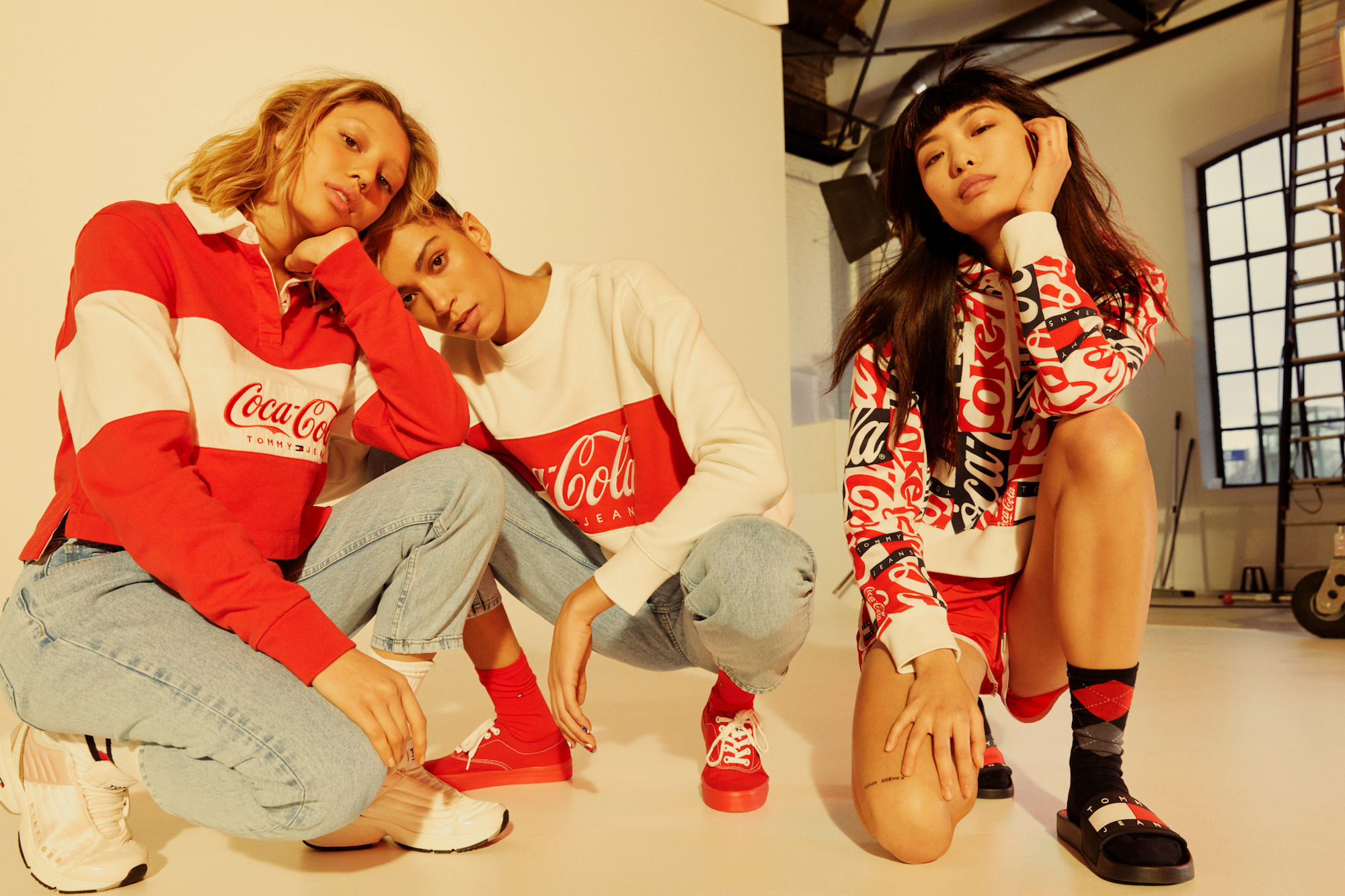 Tommy Hilfiger launches Tommy Jeans Coca-Cola collection womens group shot