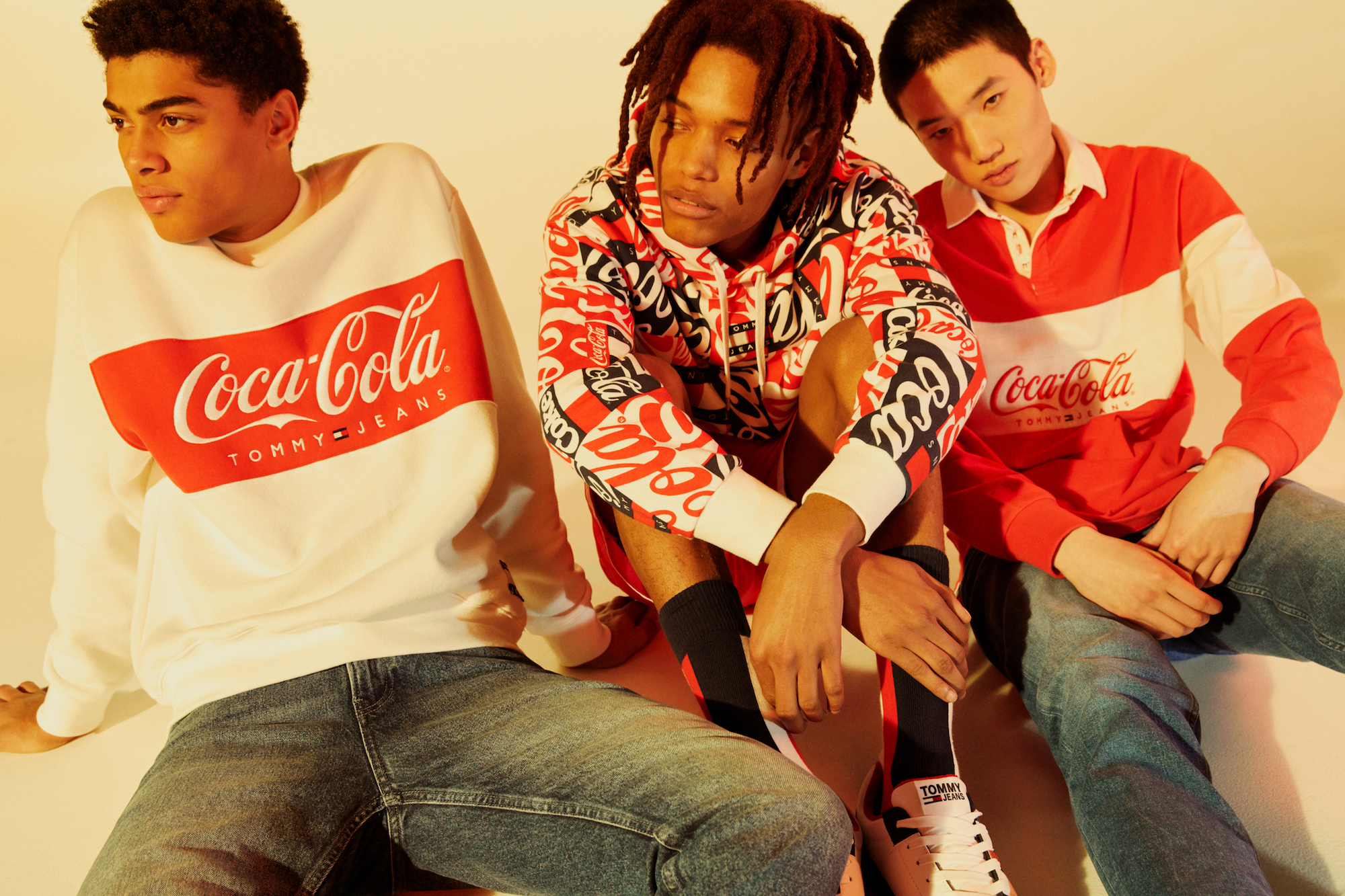 Tommy Hilfiger launches Tommy Jeans Coca-Cola collection boys group shot