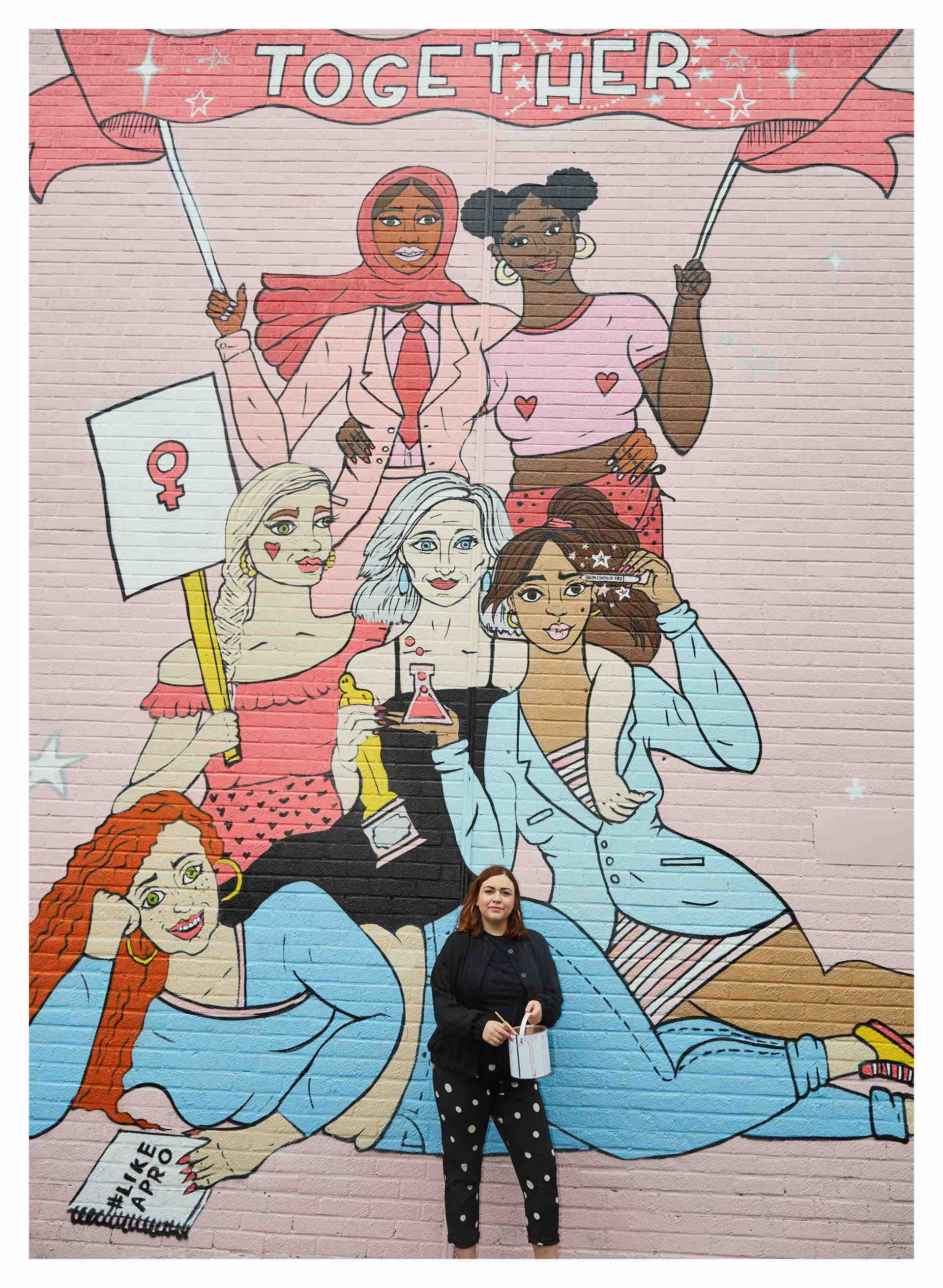 Illustrator Alice Skinner benefit mural