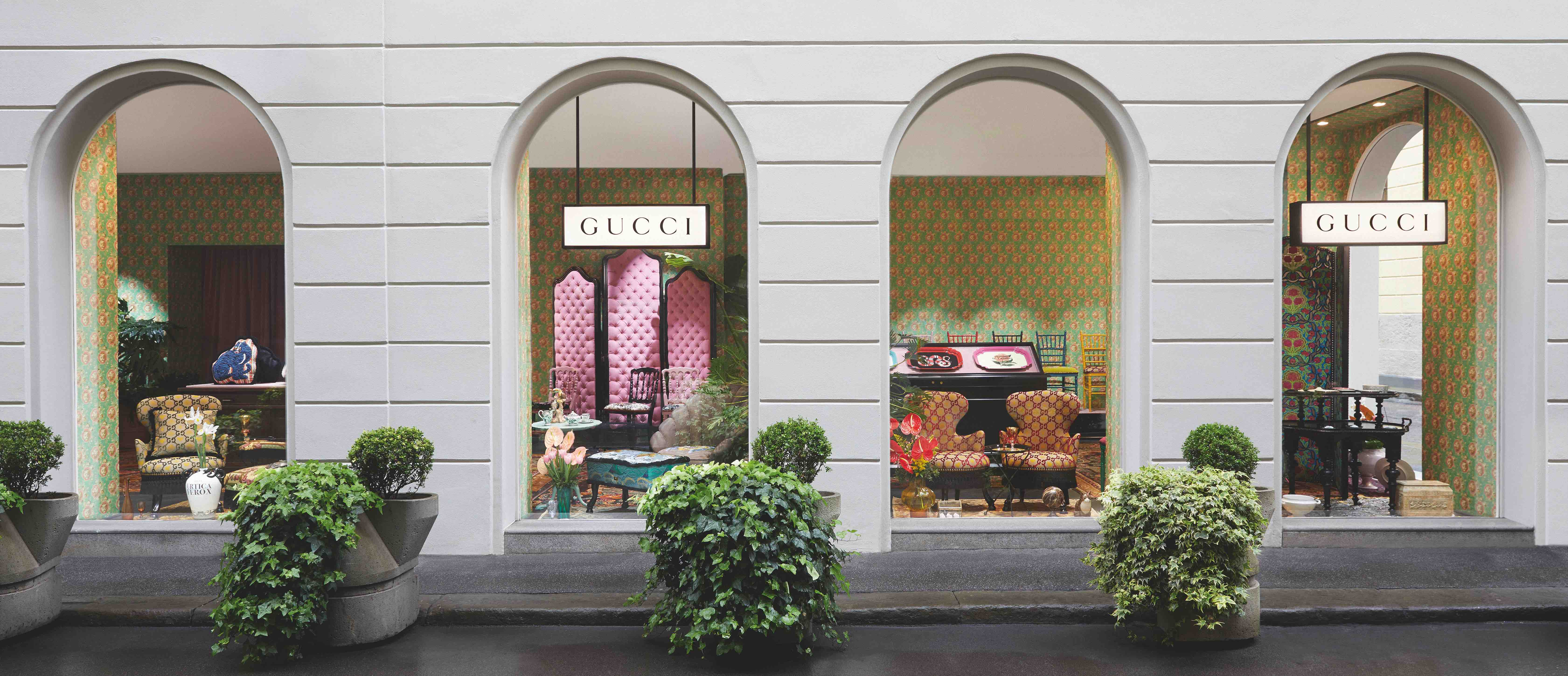 Gucci Décor pop-up Milan outside