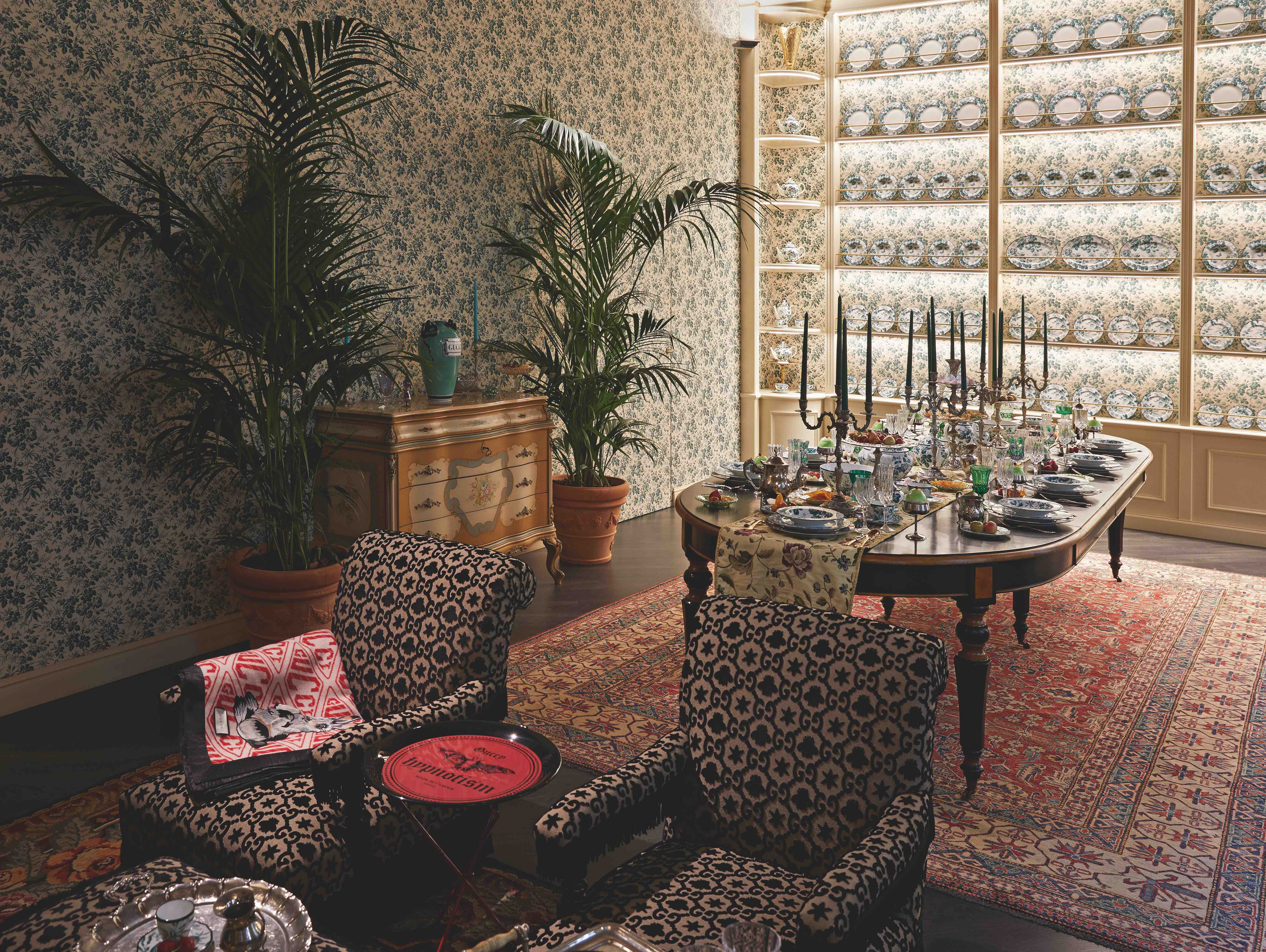 Gucci homeware pop-up table and chairs