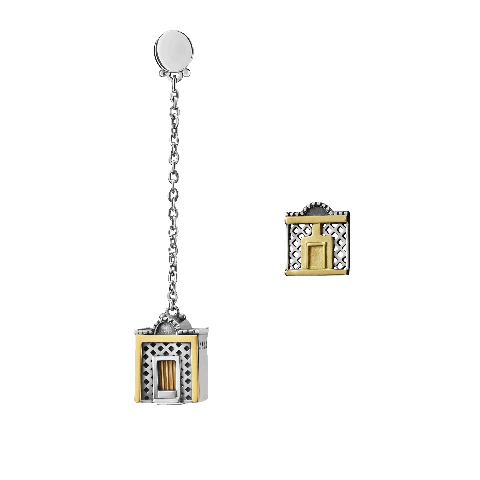 Azza Fahmy Jewellery Nubia collection sculptural earrings