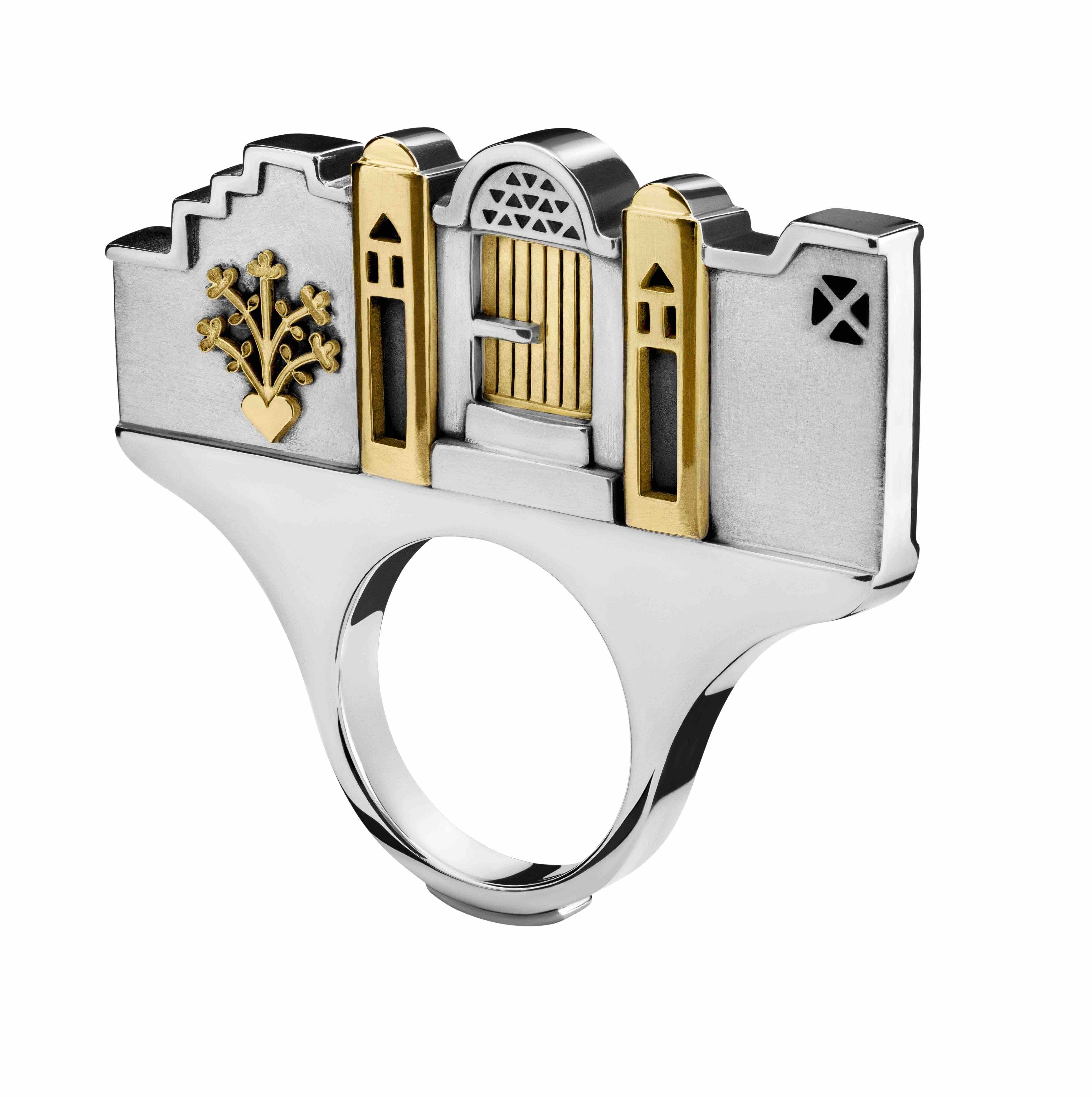 Azza Fahmy Jewellery Nubia collection sculptural ring