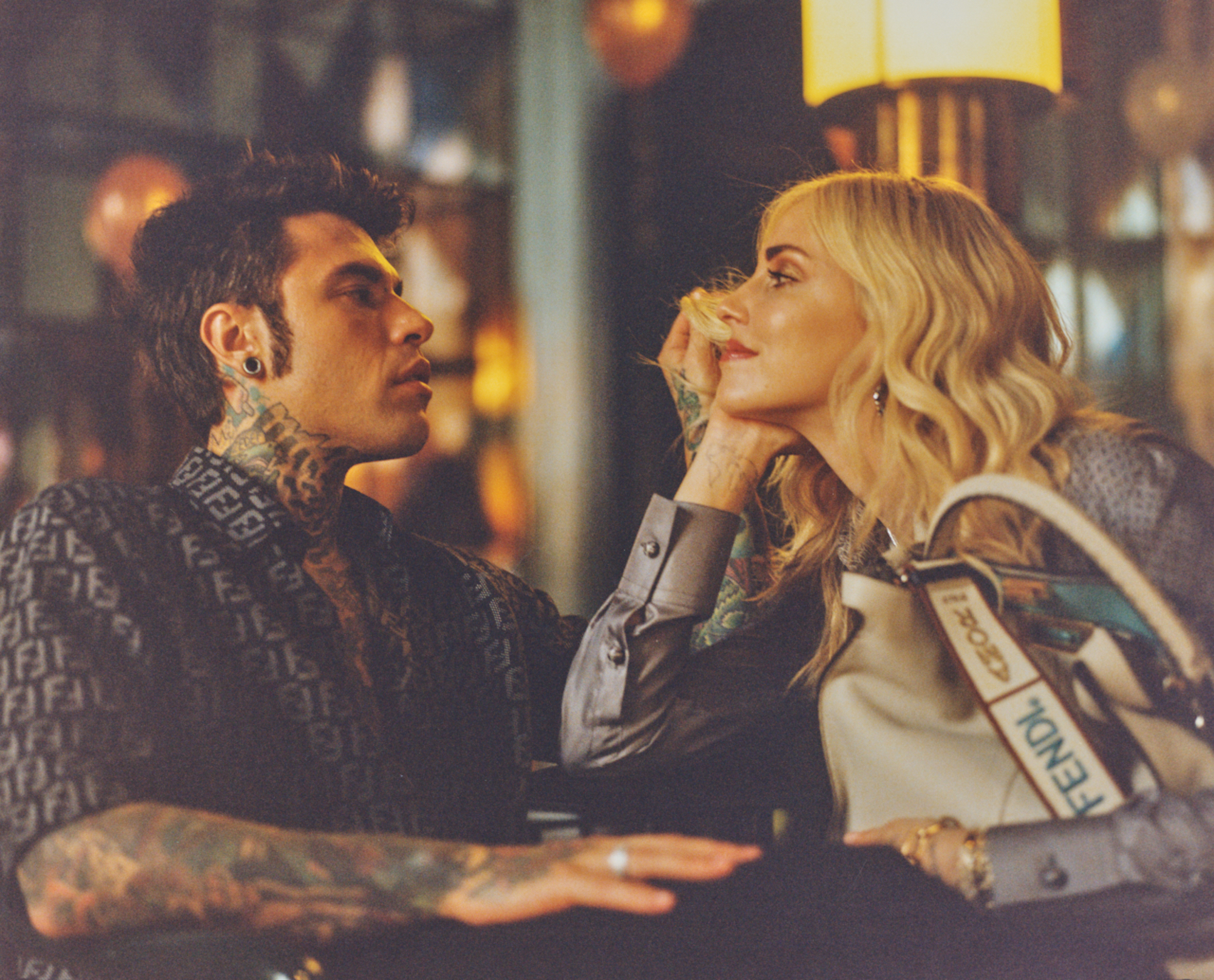 6864fbe53 Chiara Ferragni and husband Fedez for Fendi's Me and My Peekaboo campaign