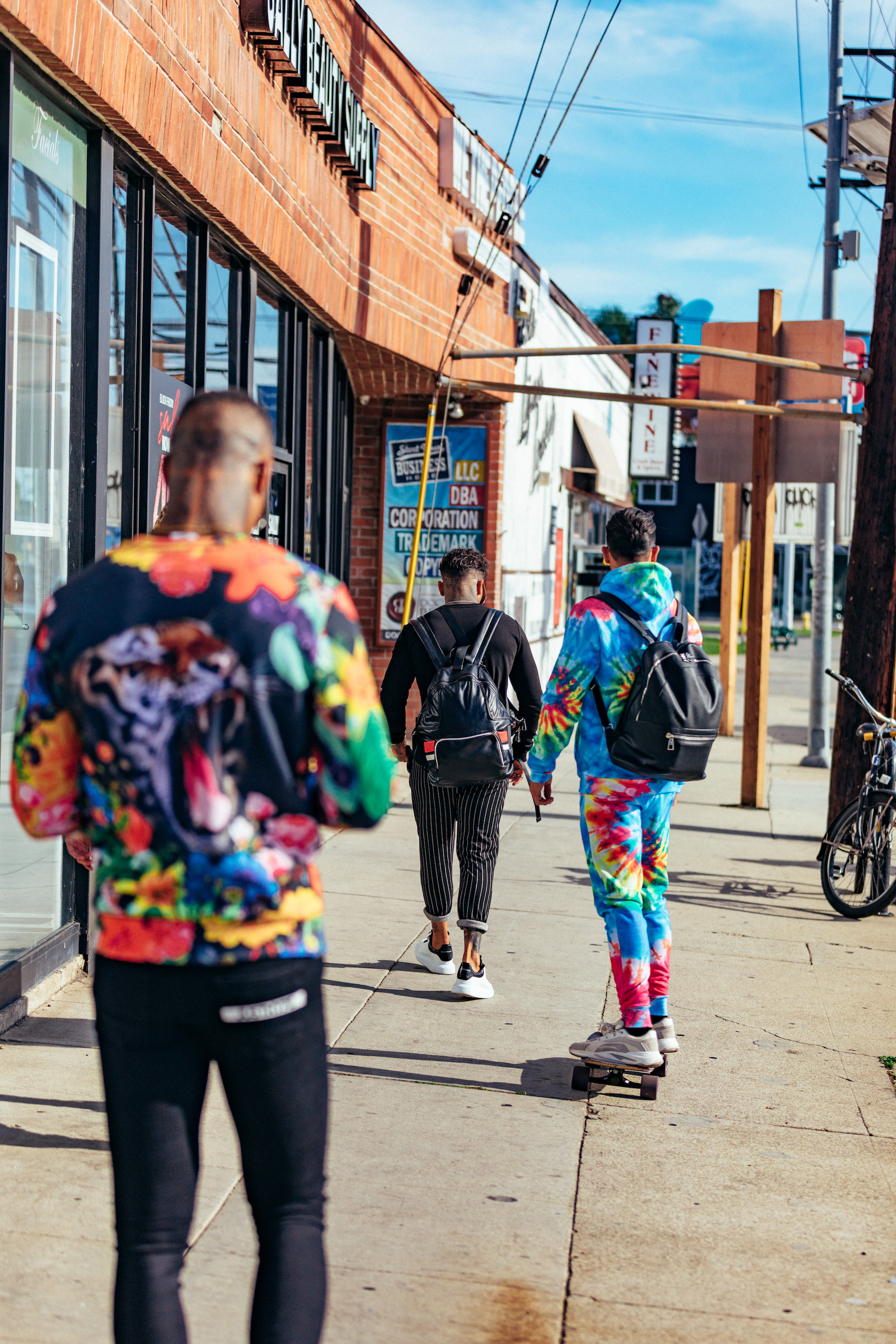 Hype streetwear brand SS19 collection tropical print and tie dye