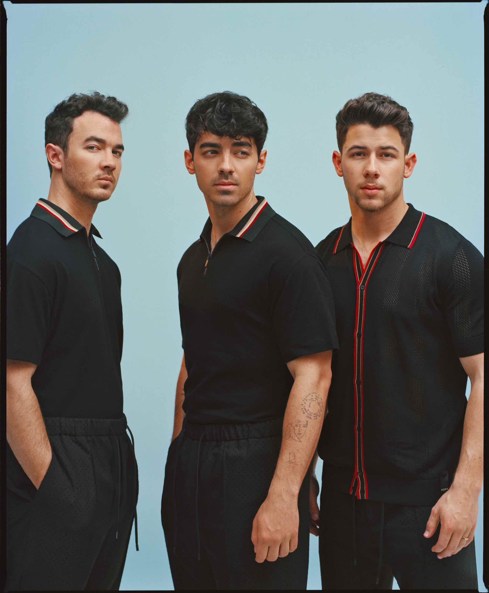 Jonas Brothers for the Summer 2019 cover of Wonderland interview blue