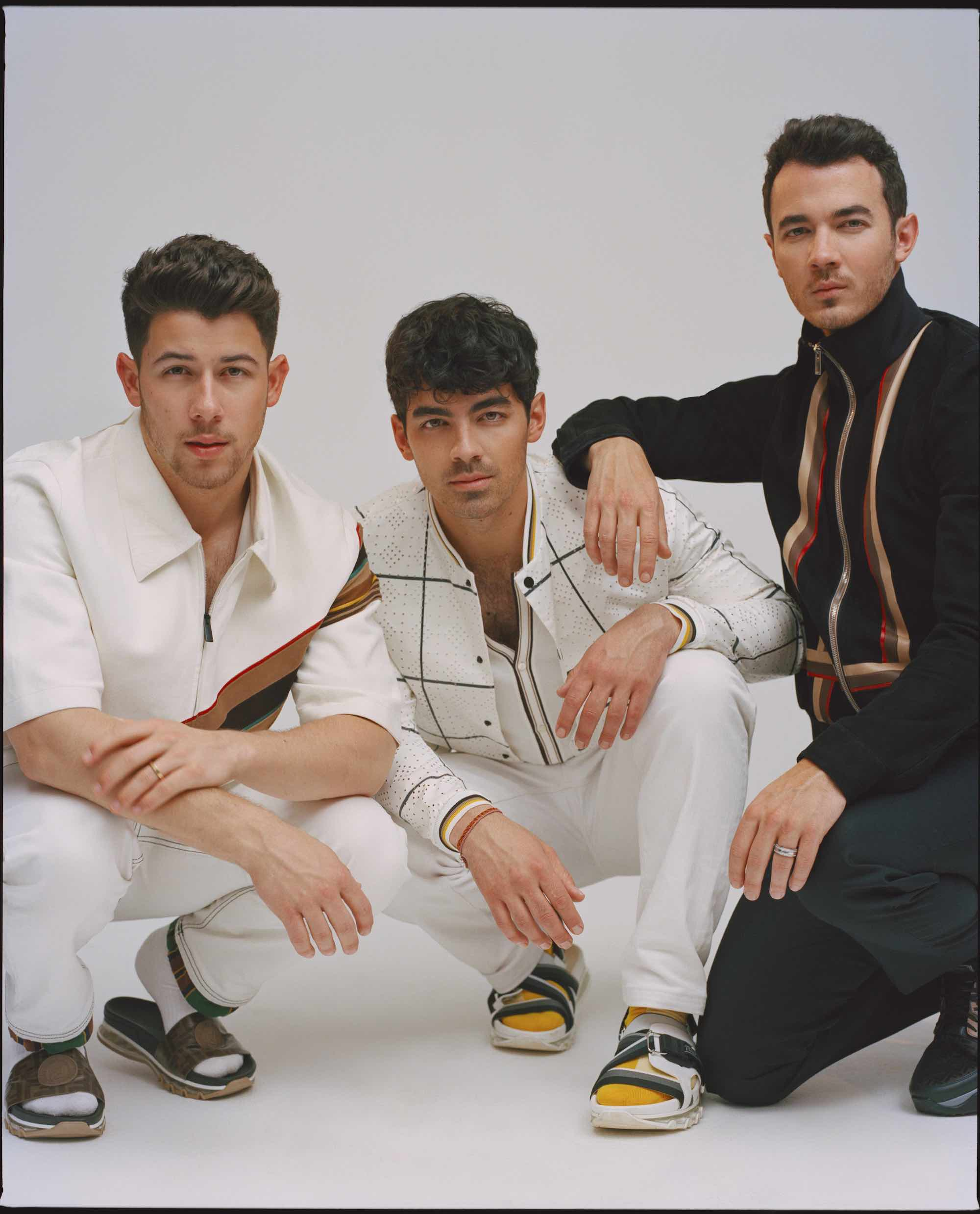 Jonas Brothers for the Summer 2019 cover of Wonderland interview white