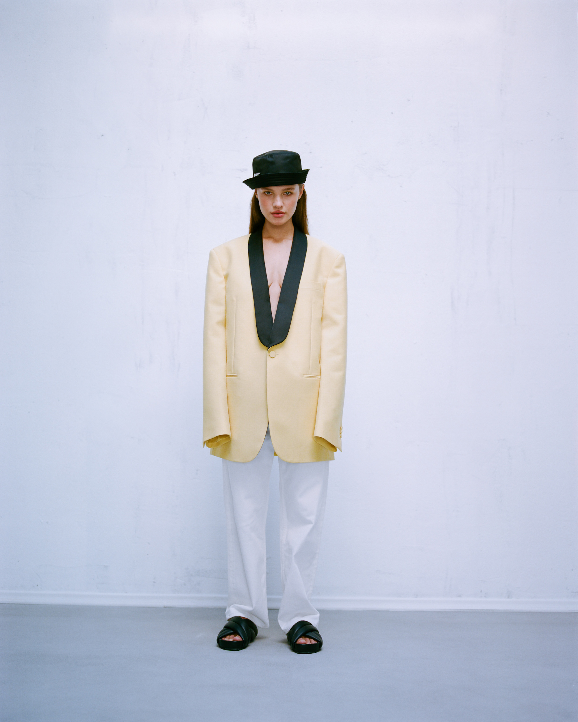 A fine line fashion editorial tux jacket