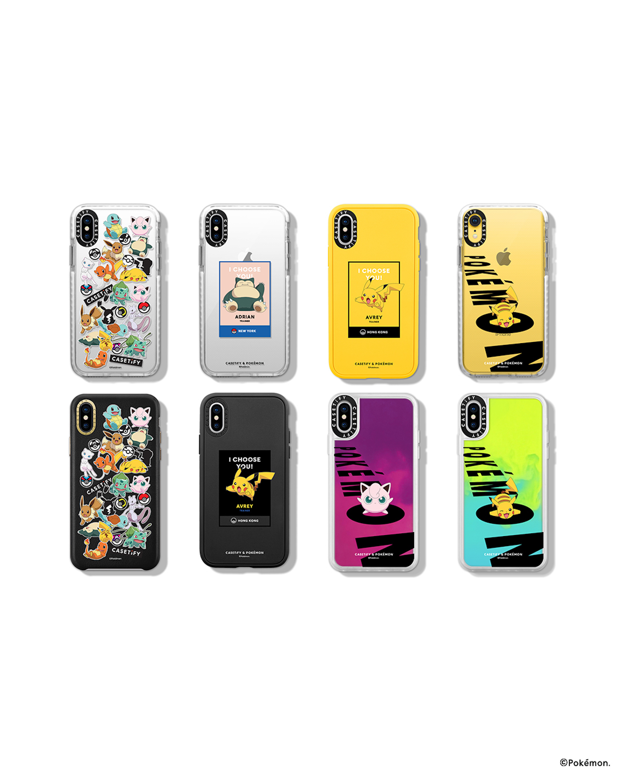 The CASETiFY & Pokémon Day and Night collection phone cases