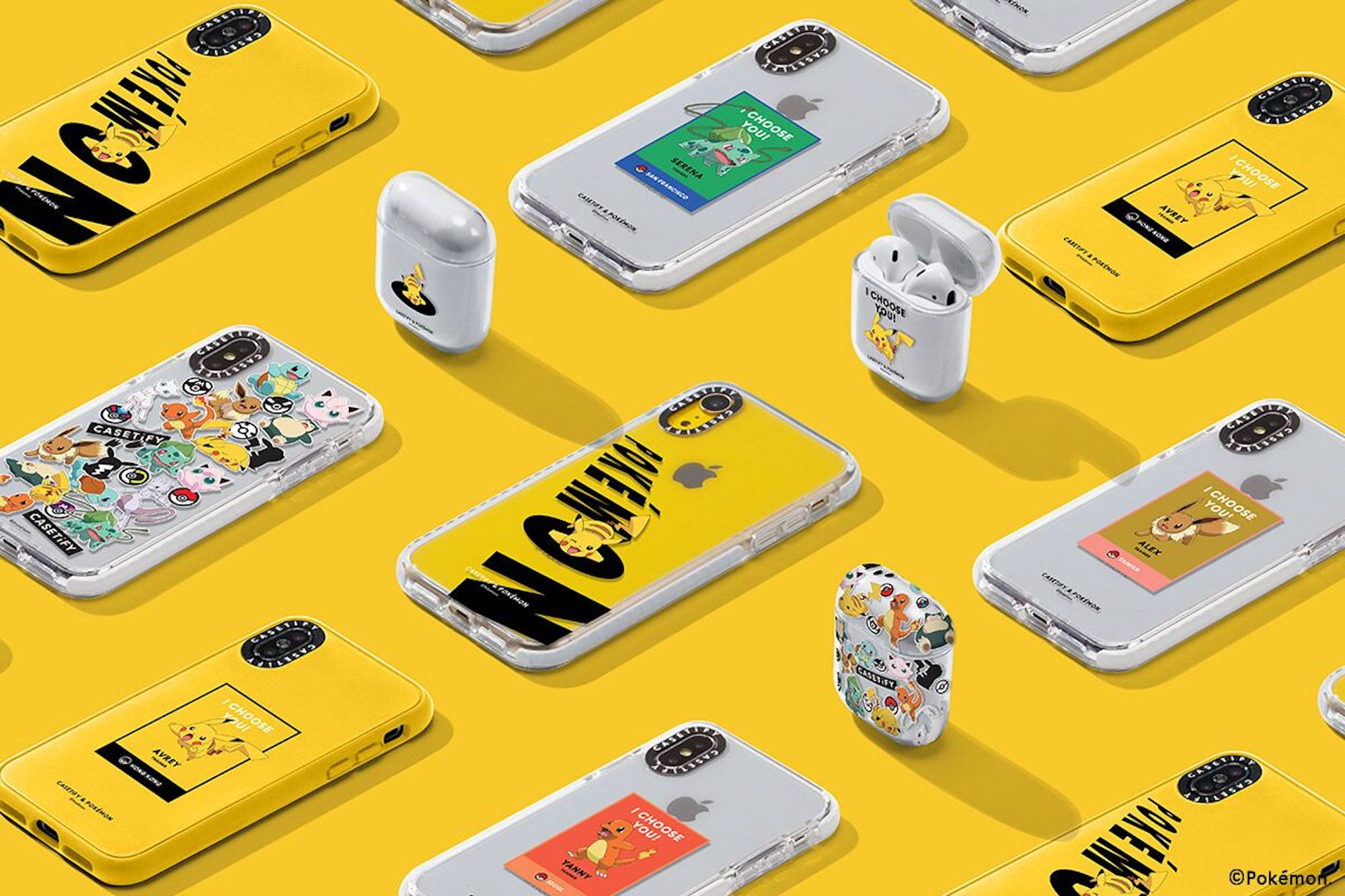 The CASETiFY & Pokémon Day and Night collection