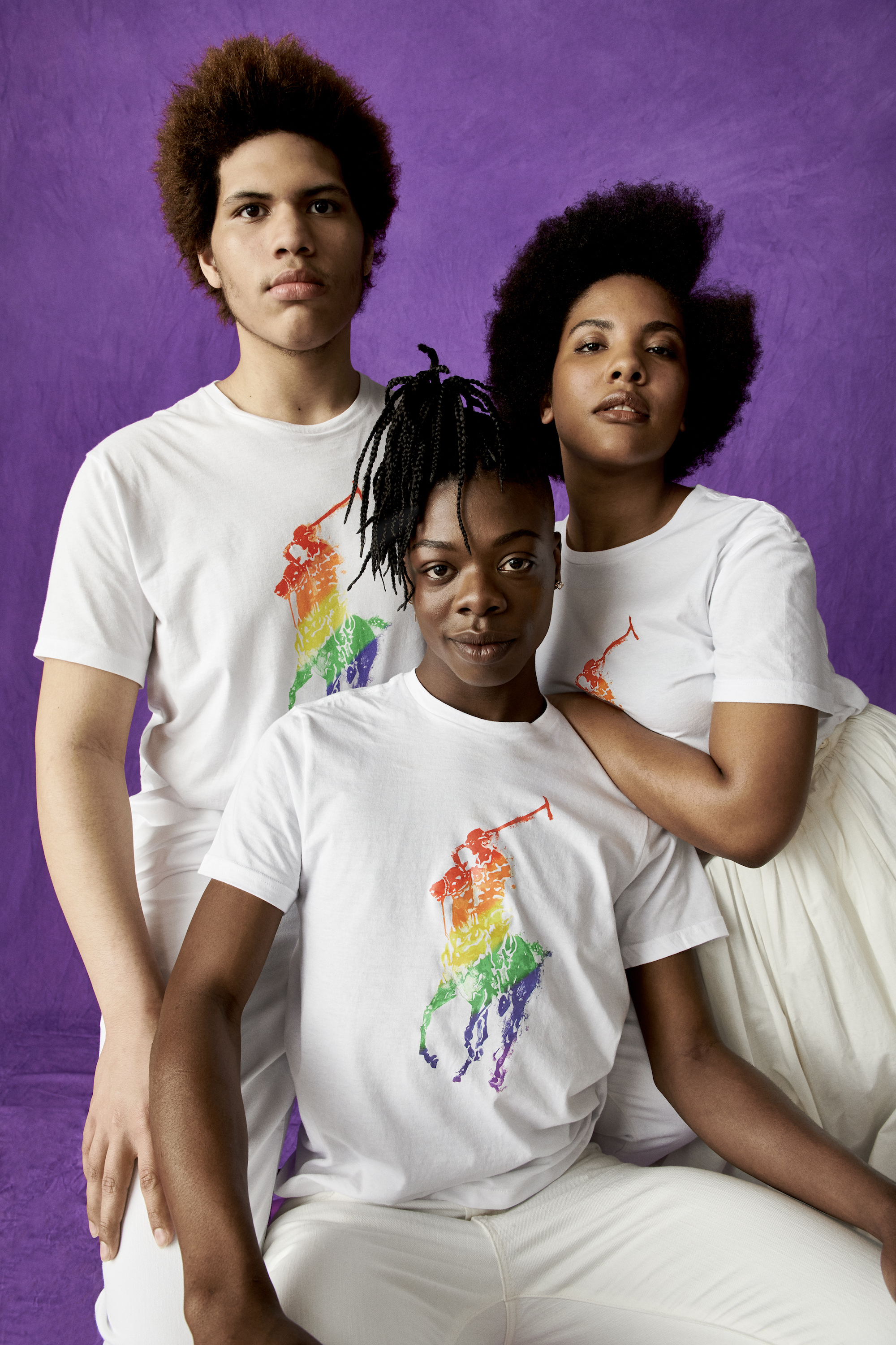 Ralph Lauren unveils its Pride collection featuring Evrisha, Tyriq & Cory