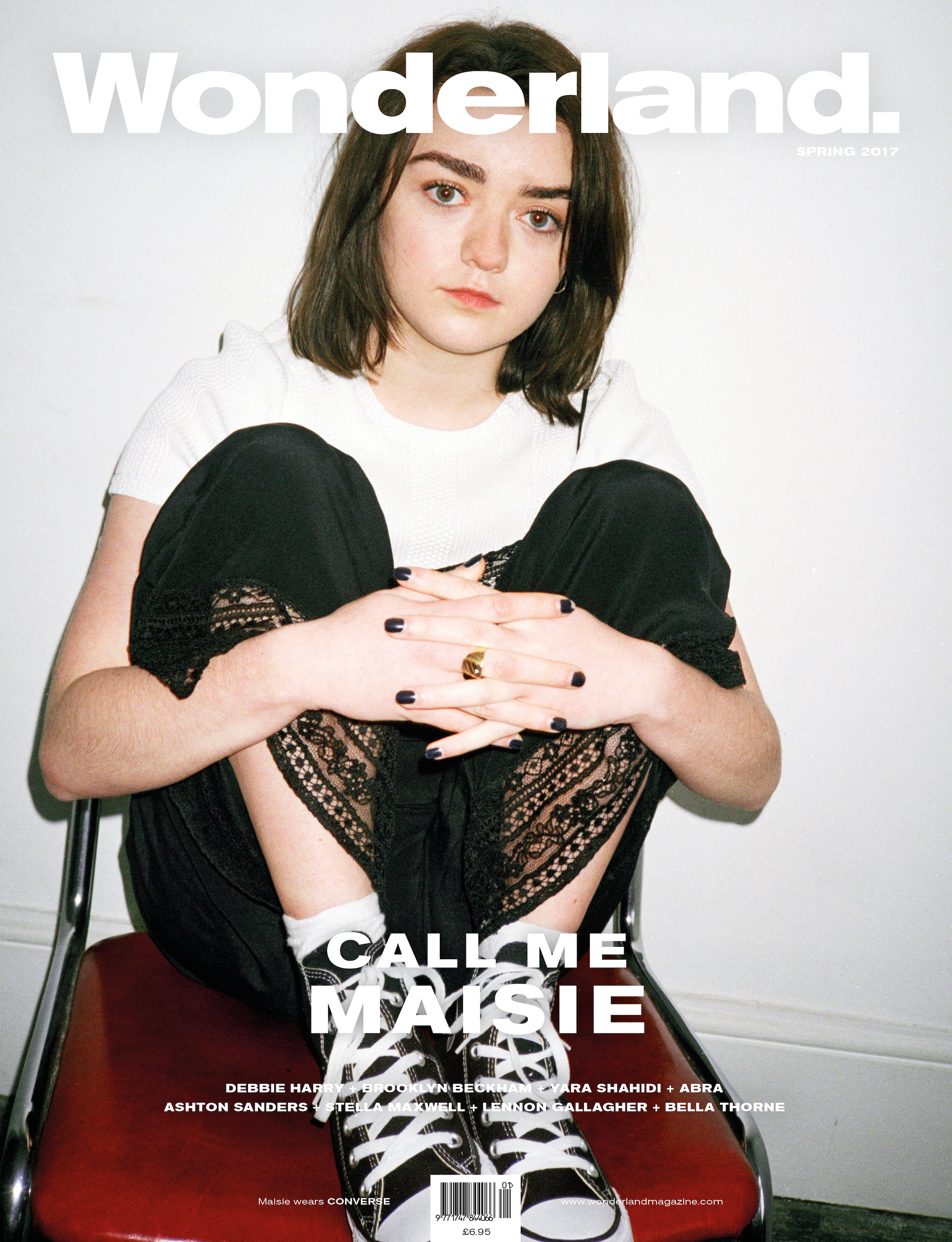 Maisie Williams on the cover of Wonderland
