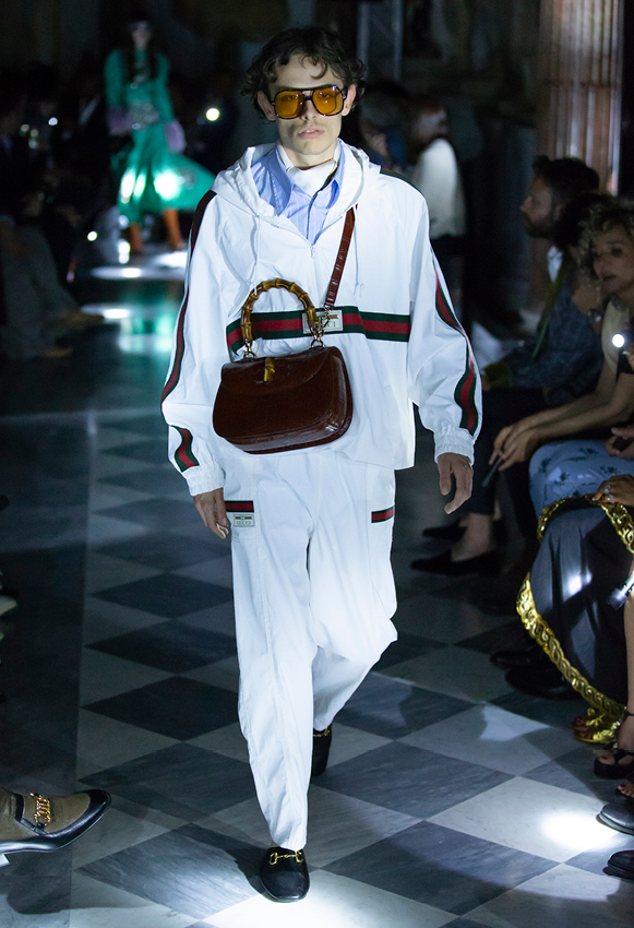 gucci cruise 2020 white tracksuit