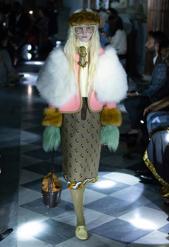 faux fur gucci cruise 2020 collection