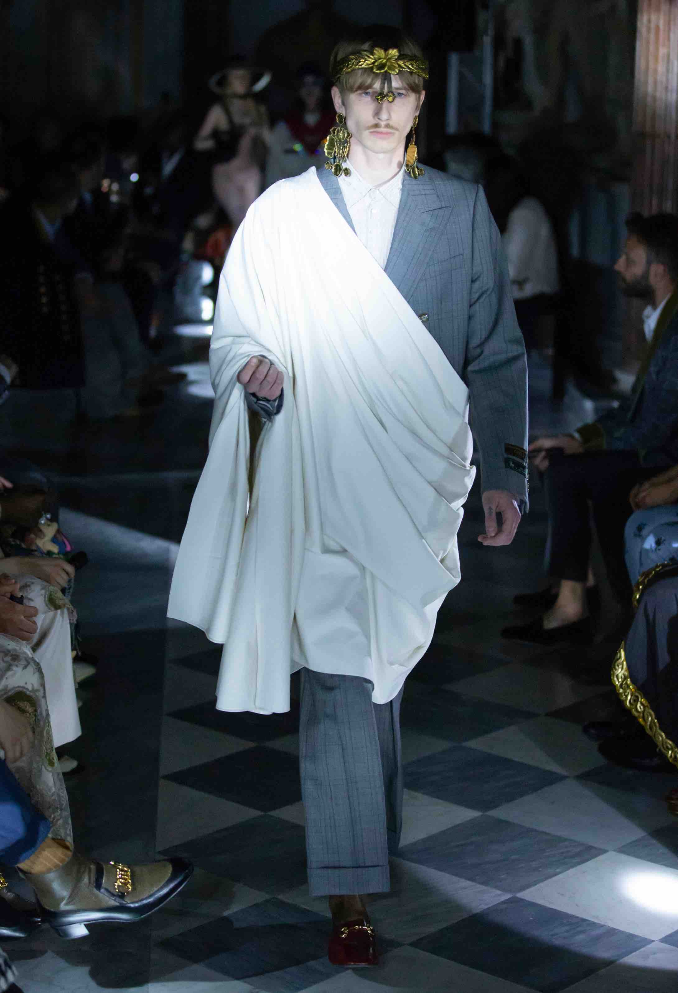 gucci toga suit cruise 2020