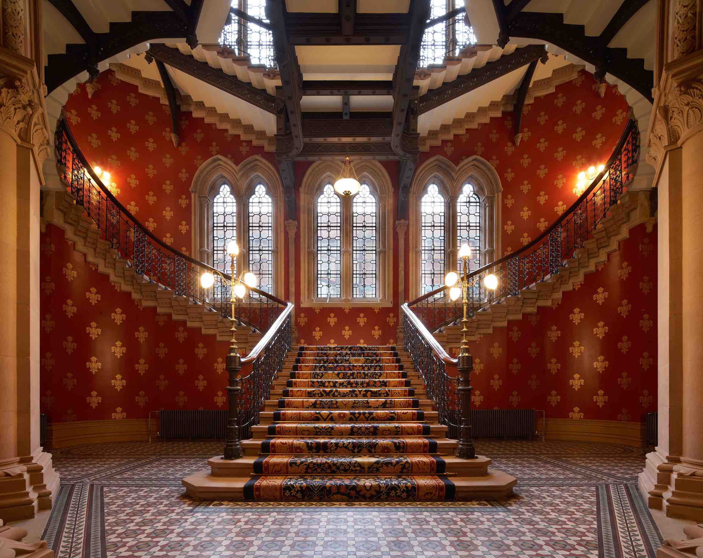 The St Pancras Renaissance Hotel grand staircase