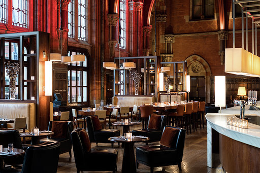 The St Pancras Renaissance Hotel restaurant bar interior design