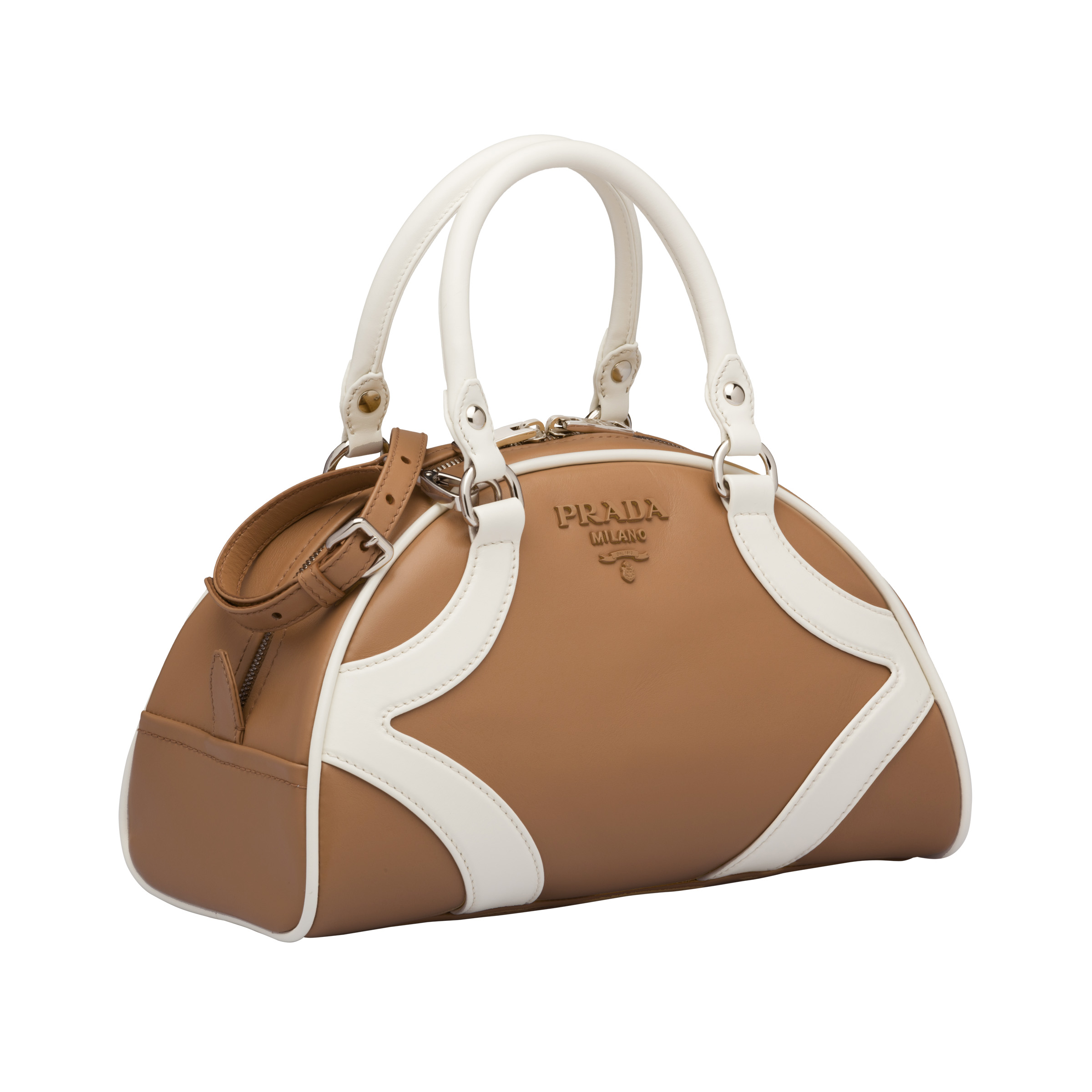 Prada bowling bag resort 2020 collection in tan