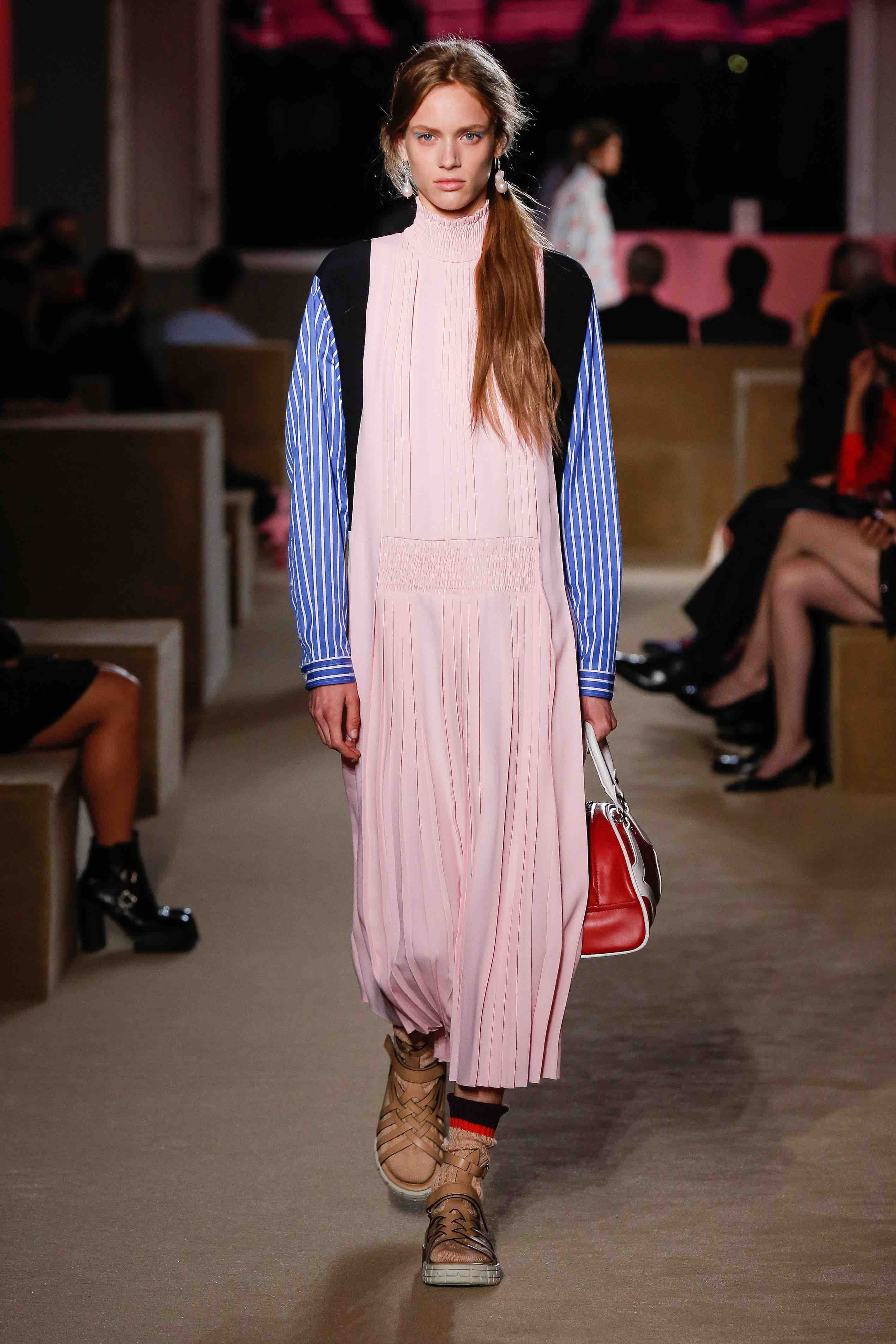 prada resort 2020 pale pink dress