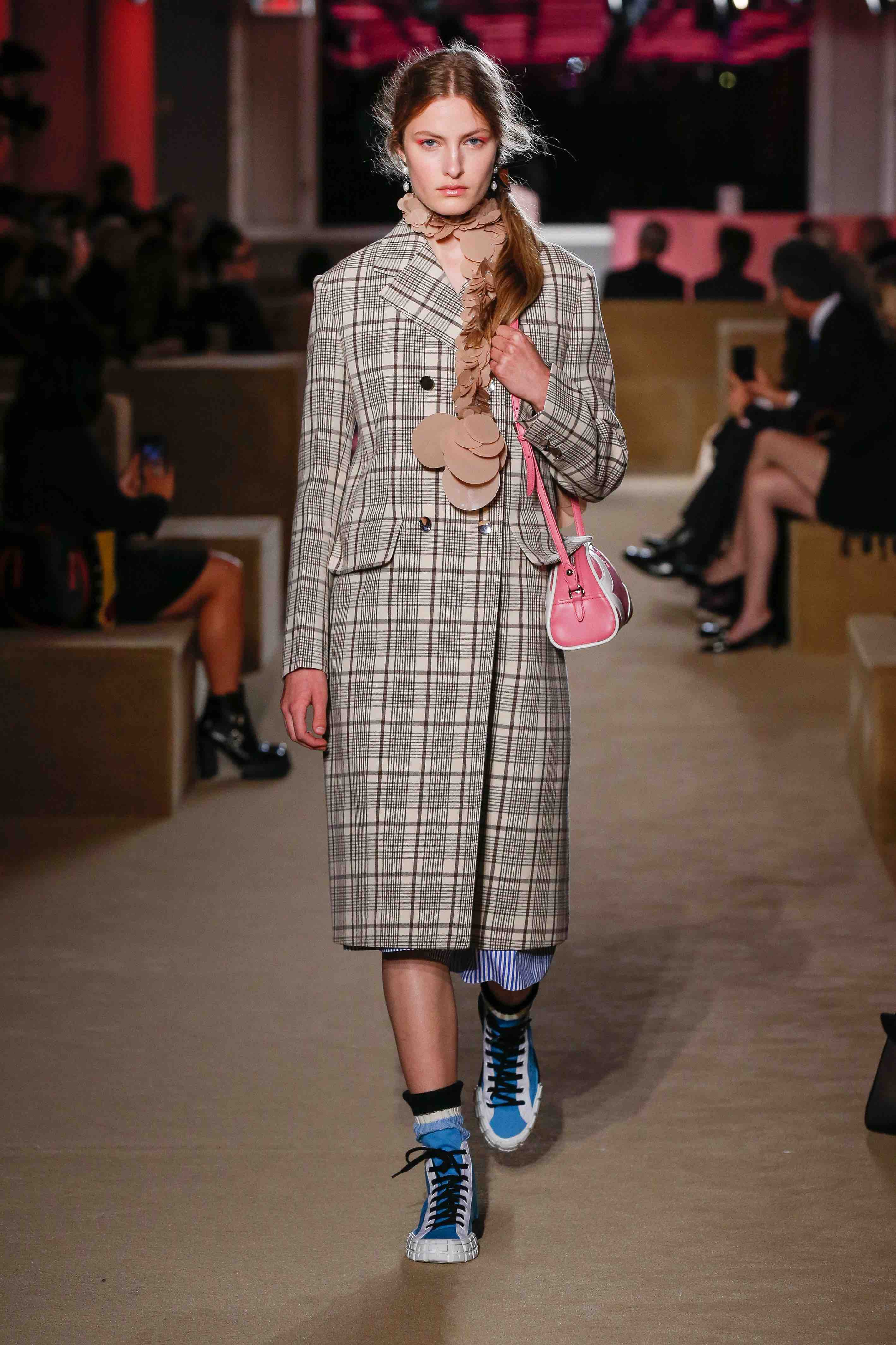 prada resort 2020 check coat