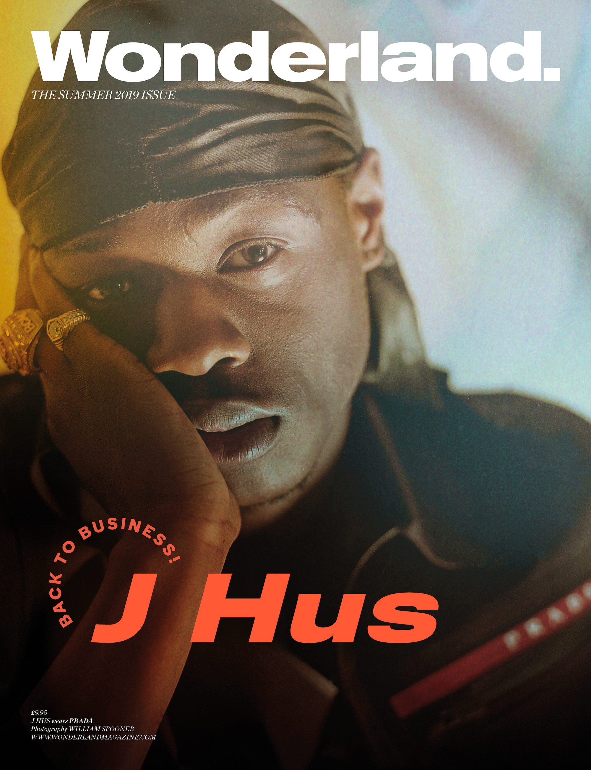 J Hus on the cover of Wonderland magazine Summer 19 issue closeup
