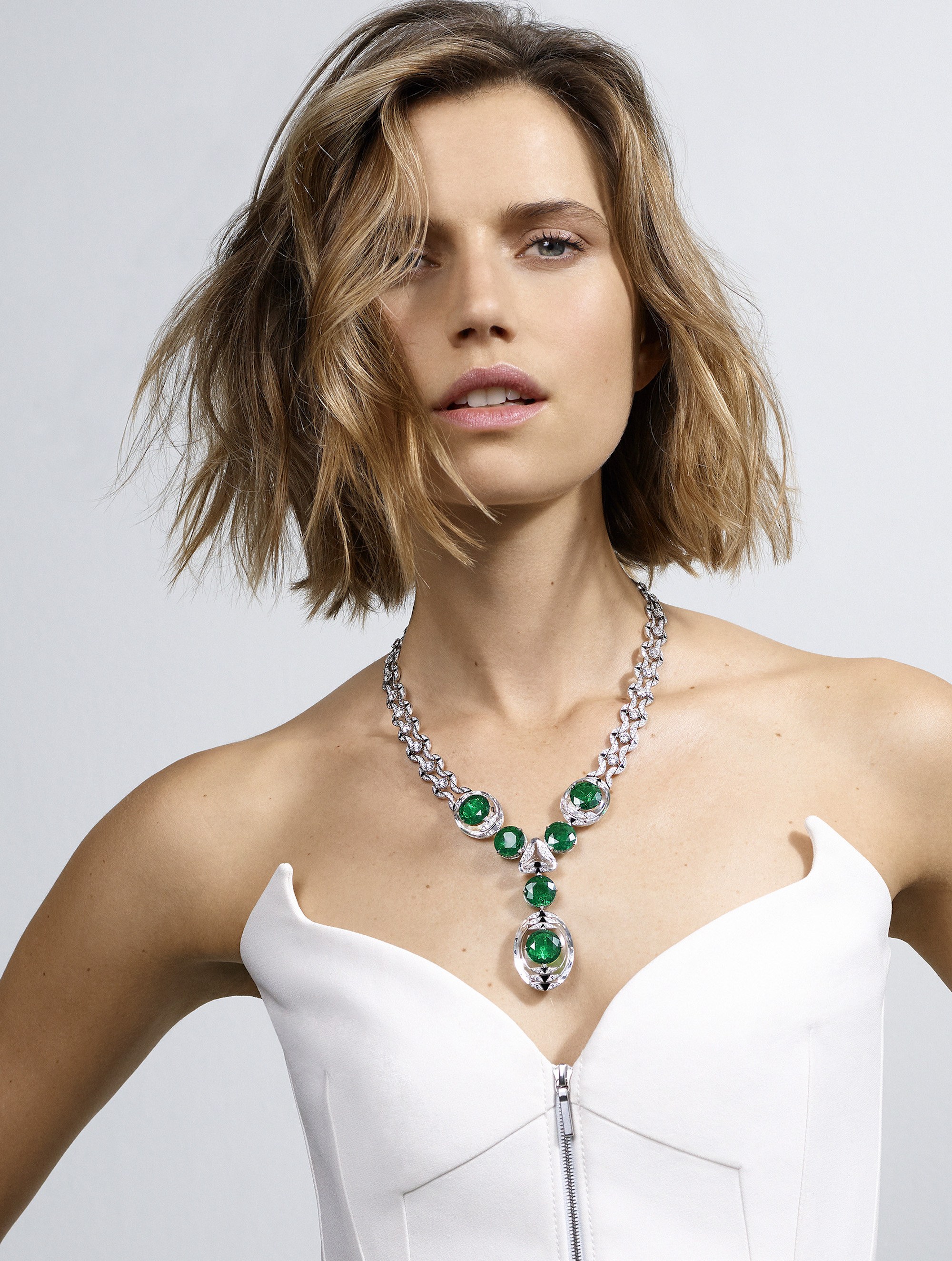 Cartier Magnitude high jewellery collection emerald necklace