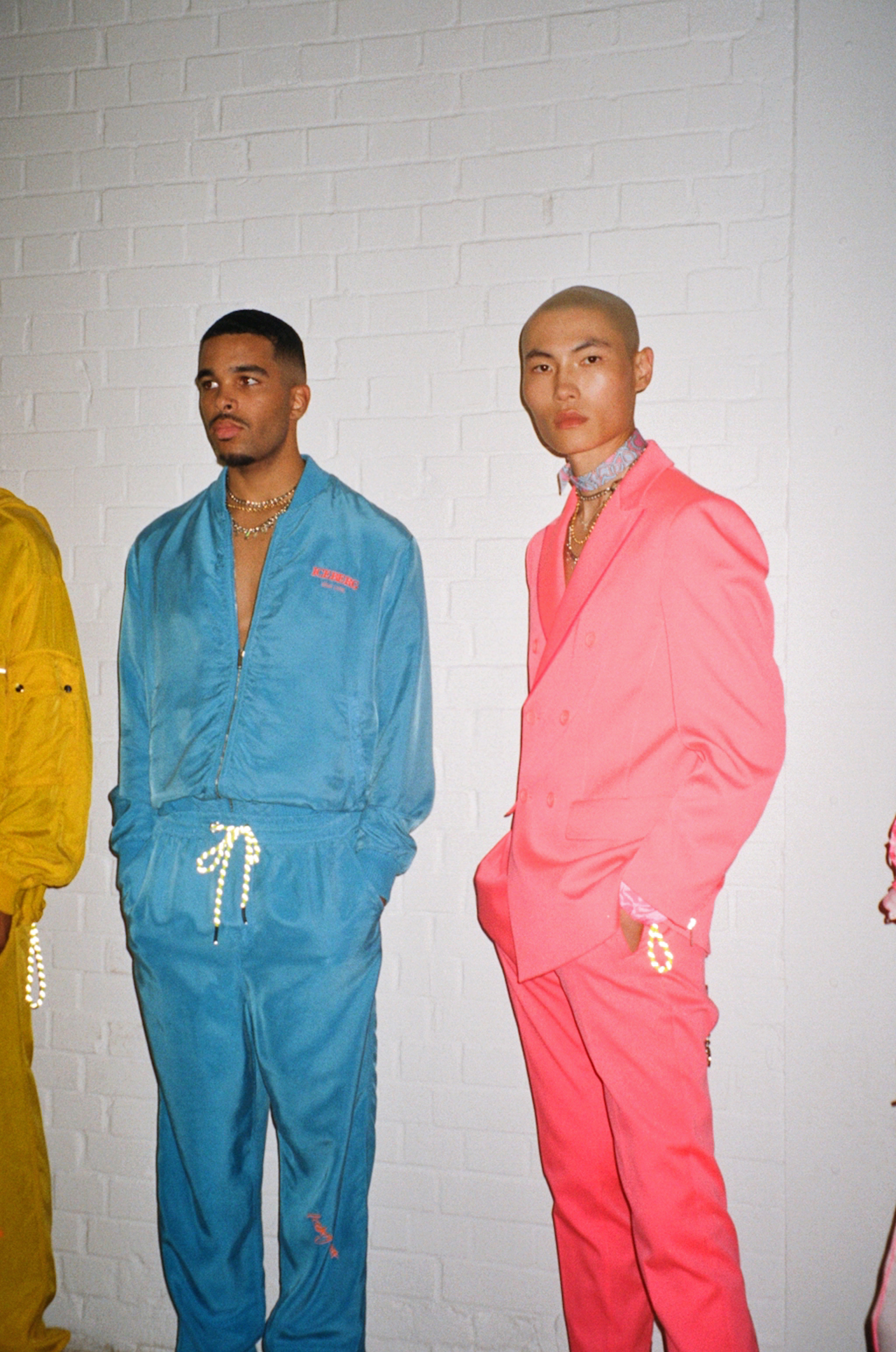 Iceberg Spring/Summer 2020 menswear show pink suiting