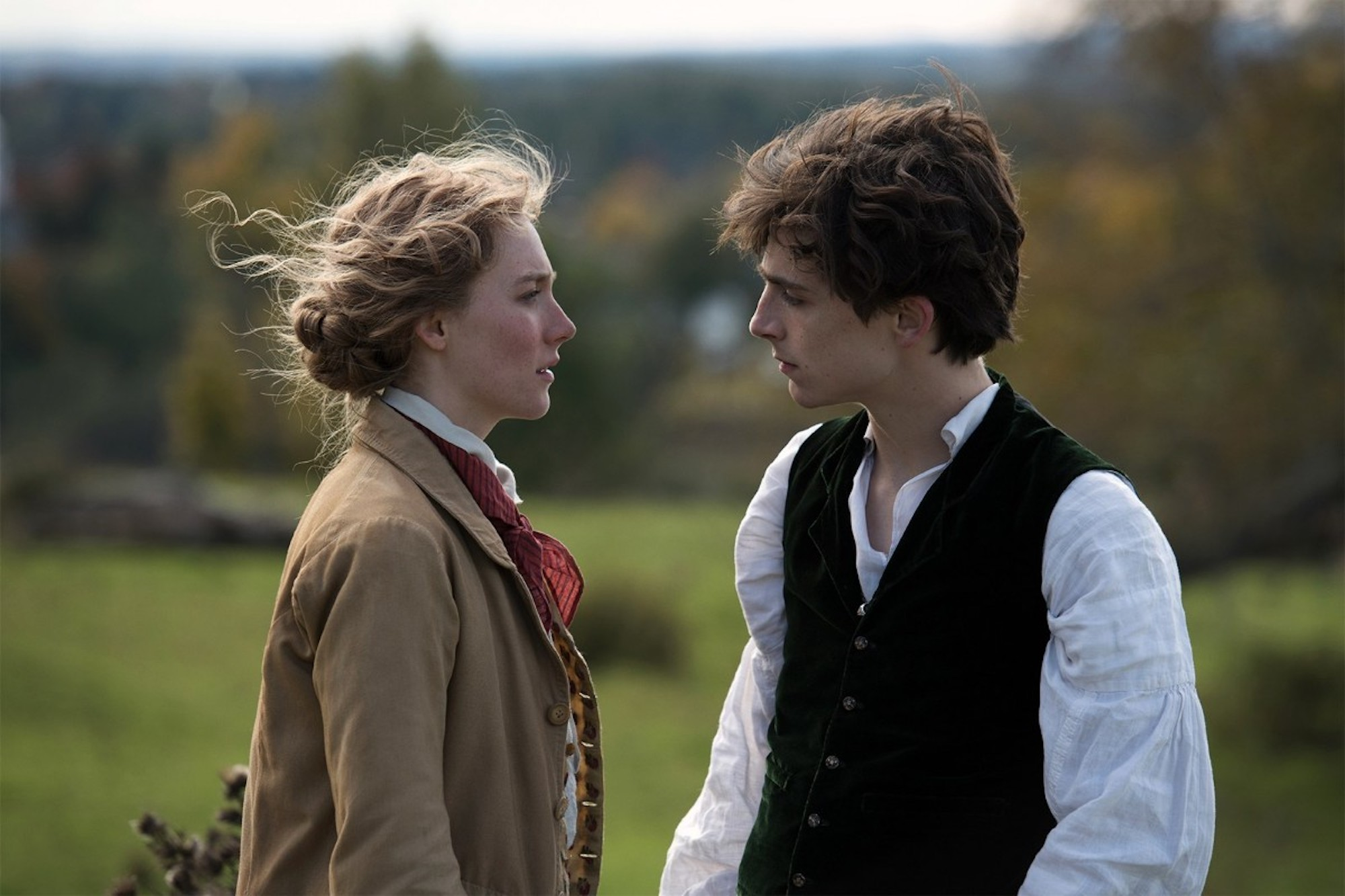 Greta Gerwig's Little Women Timothee and Saoirse Ronan