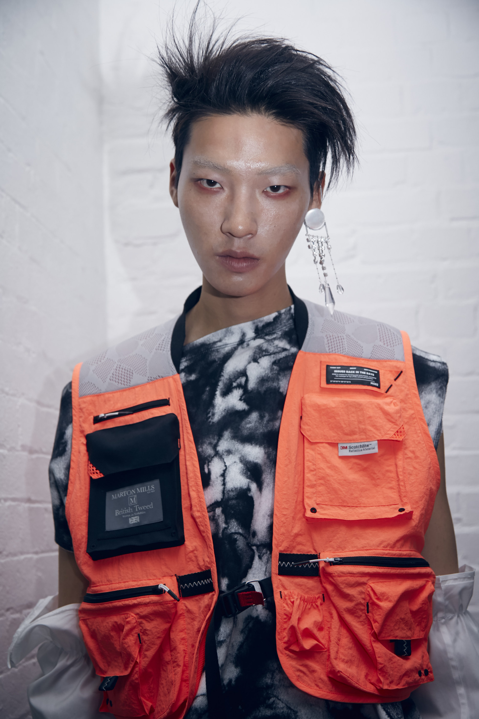 MÜNN Spring/Summer 2020 for LFWM orange vest