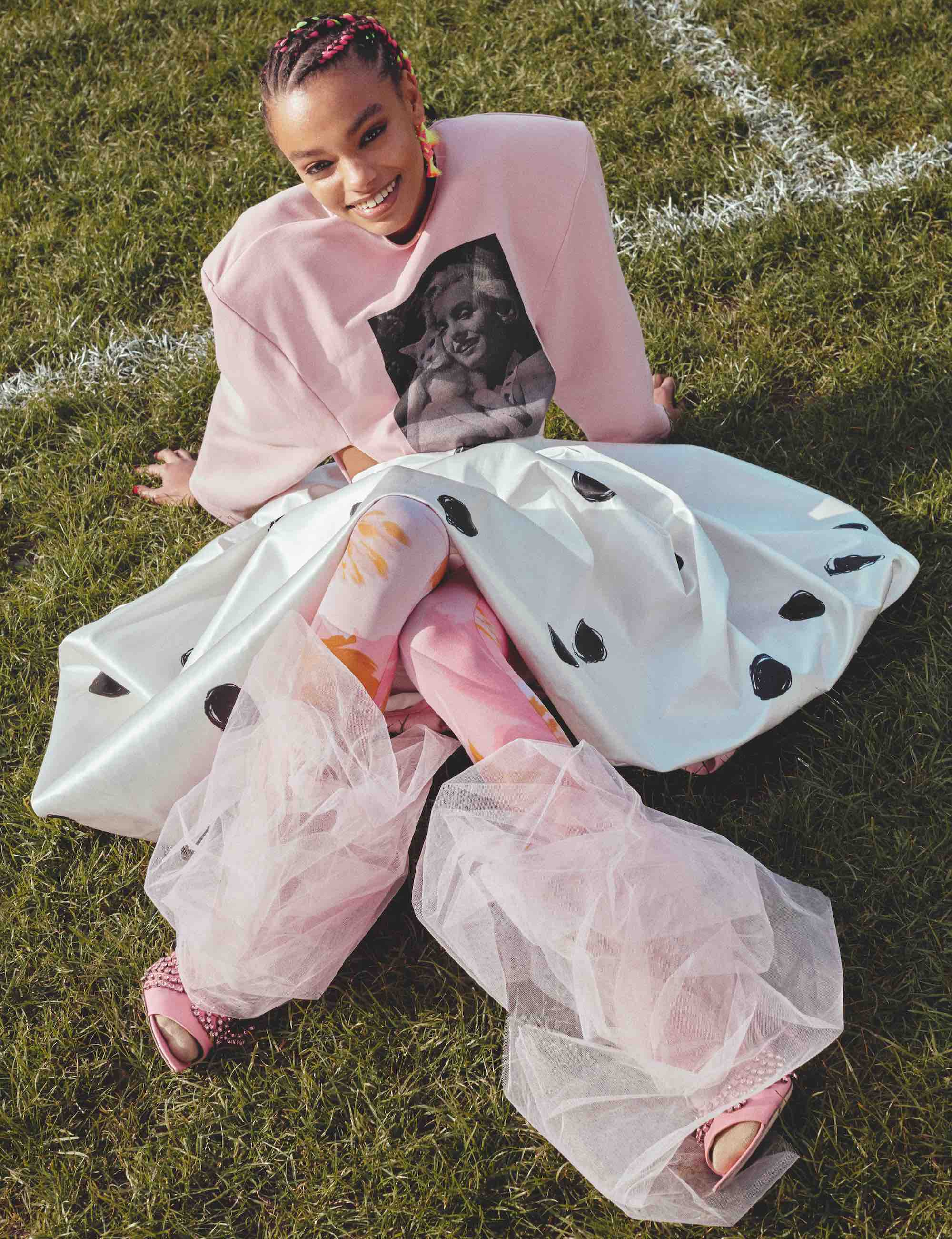 Heaven Phase 1 fashion editorial for Wonderland Summer 19 issue pink look