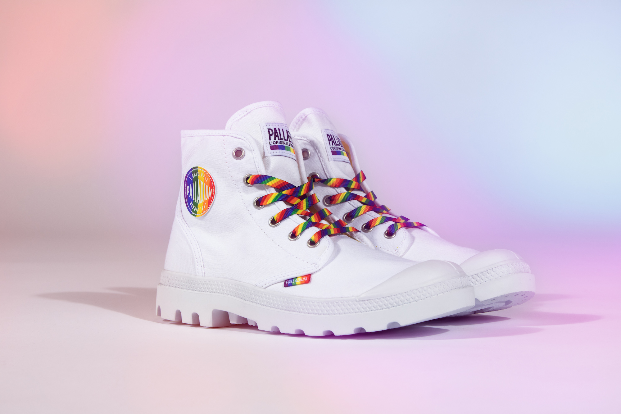 Palladium Pride collection white boot