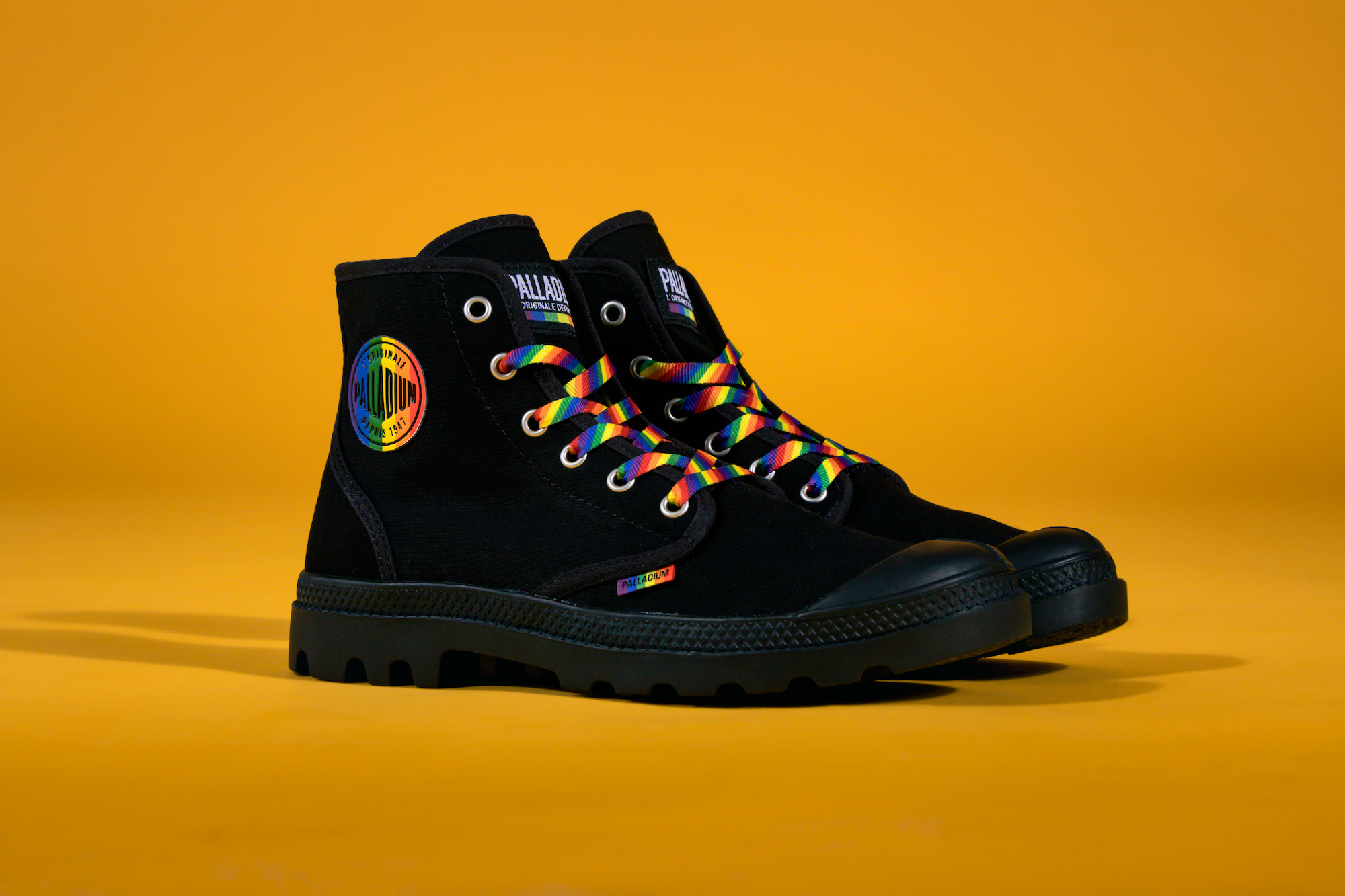 Palladium Pride collection black boot