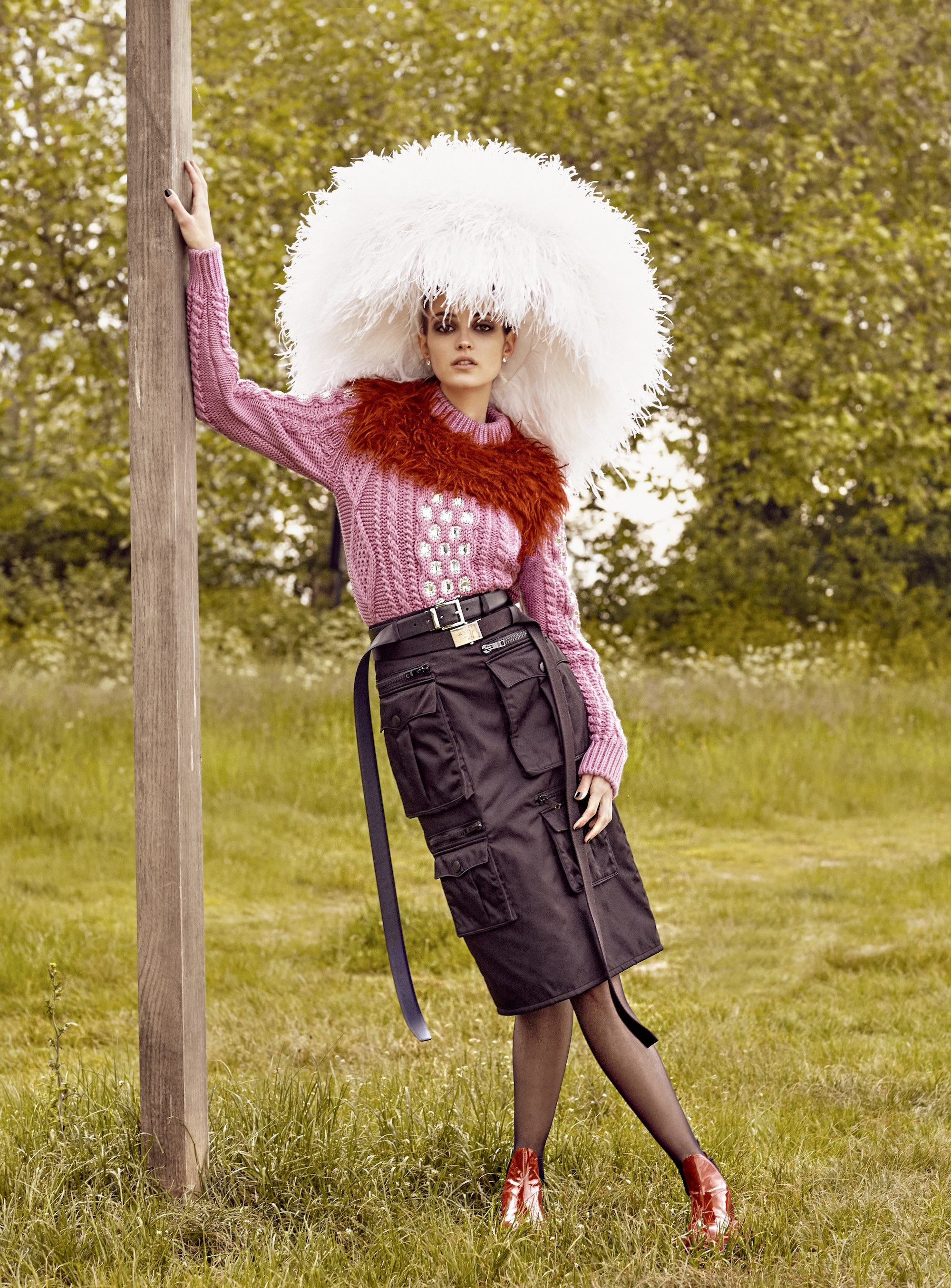 Wonderland baked raindrops editorial fluffy headpiece