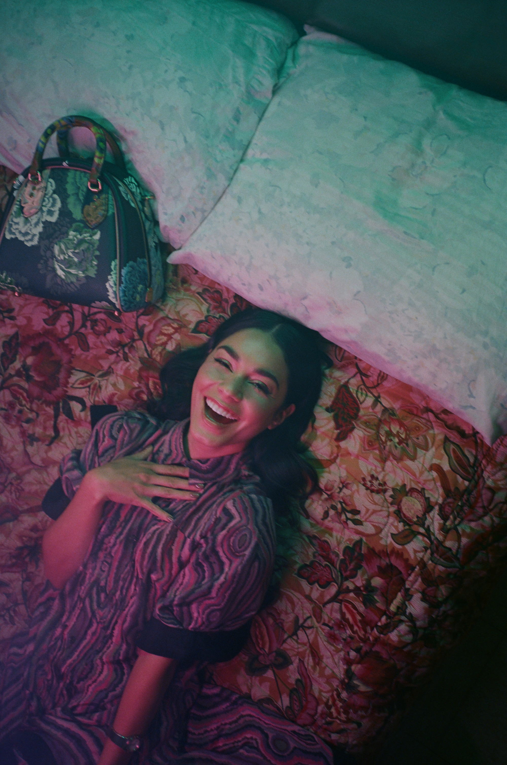 Vanessa Hudgens Omega cover interview in Sumer 19 issue of Wonderland lying in bed