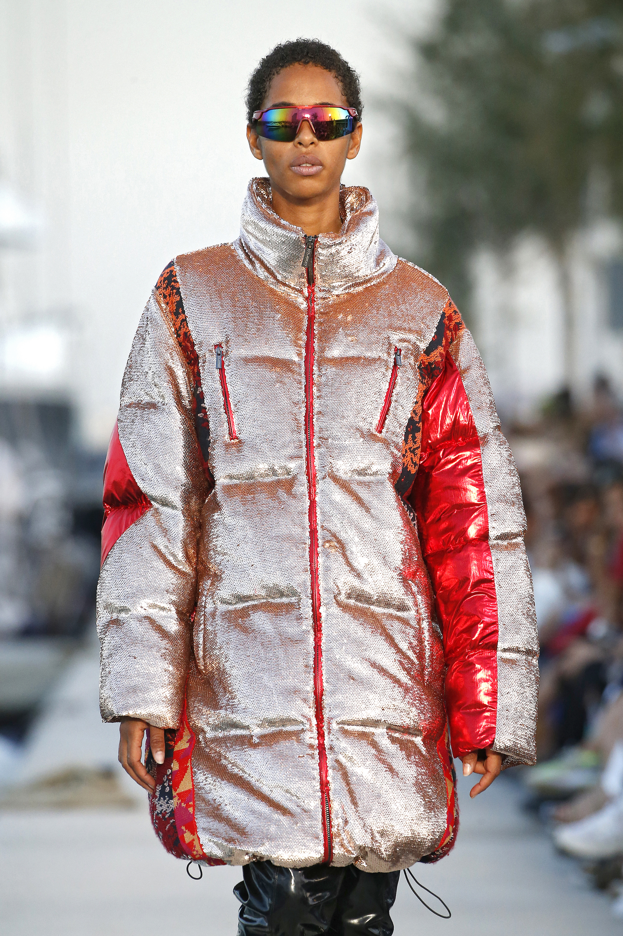 Custo Barcelona at Barcelona Fashion Week puffer coat