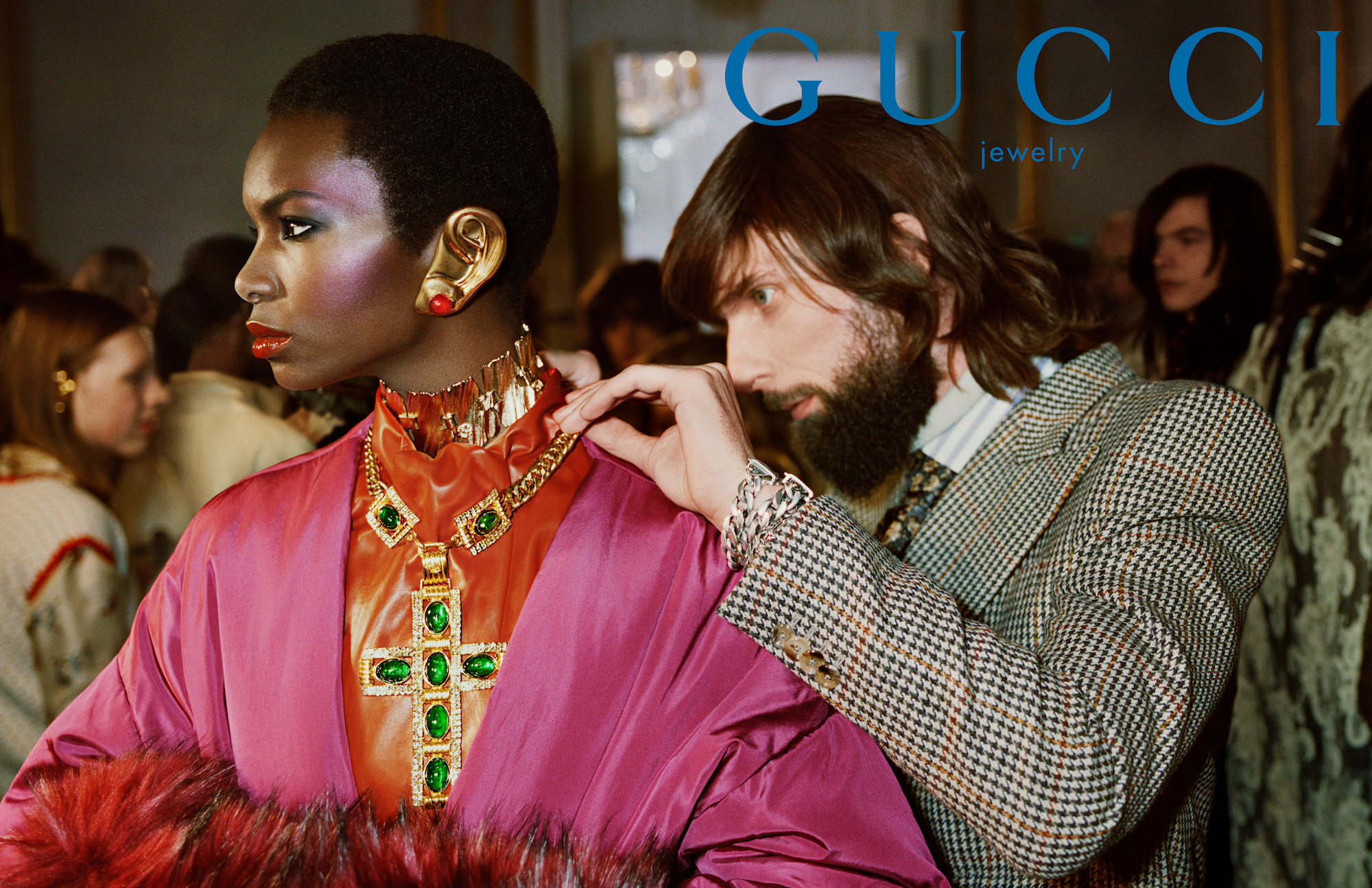 Gucci AW19 campaign shot by Glen Luchford pink jacket