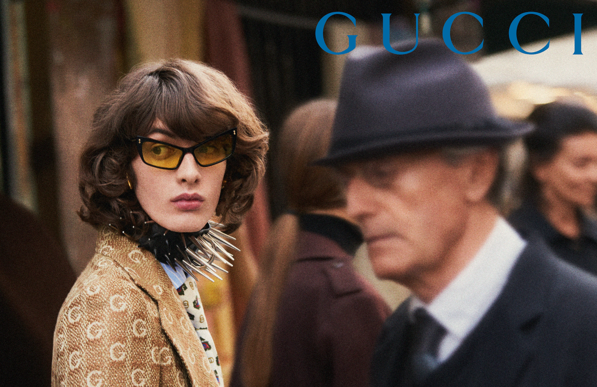Gucci AW19 campaign shot by Glen Luchford spike collar
