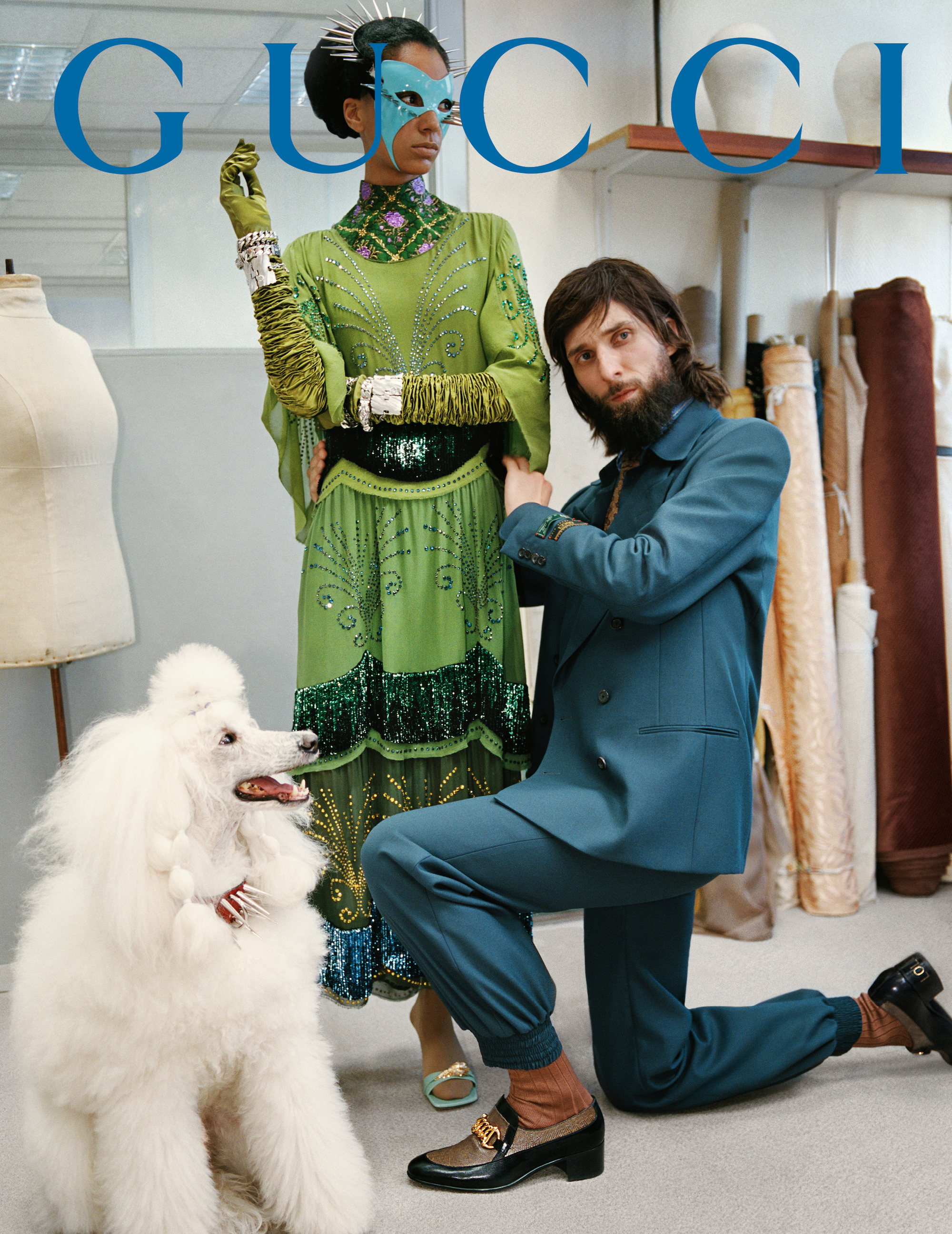 Gucci AW19 campaign shot by Glen Luchford poodle