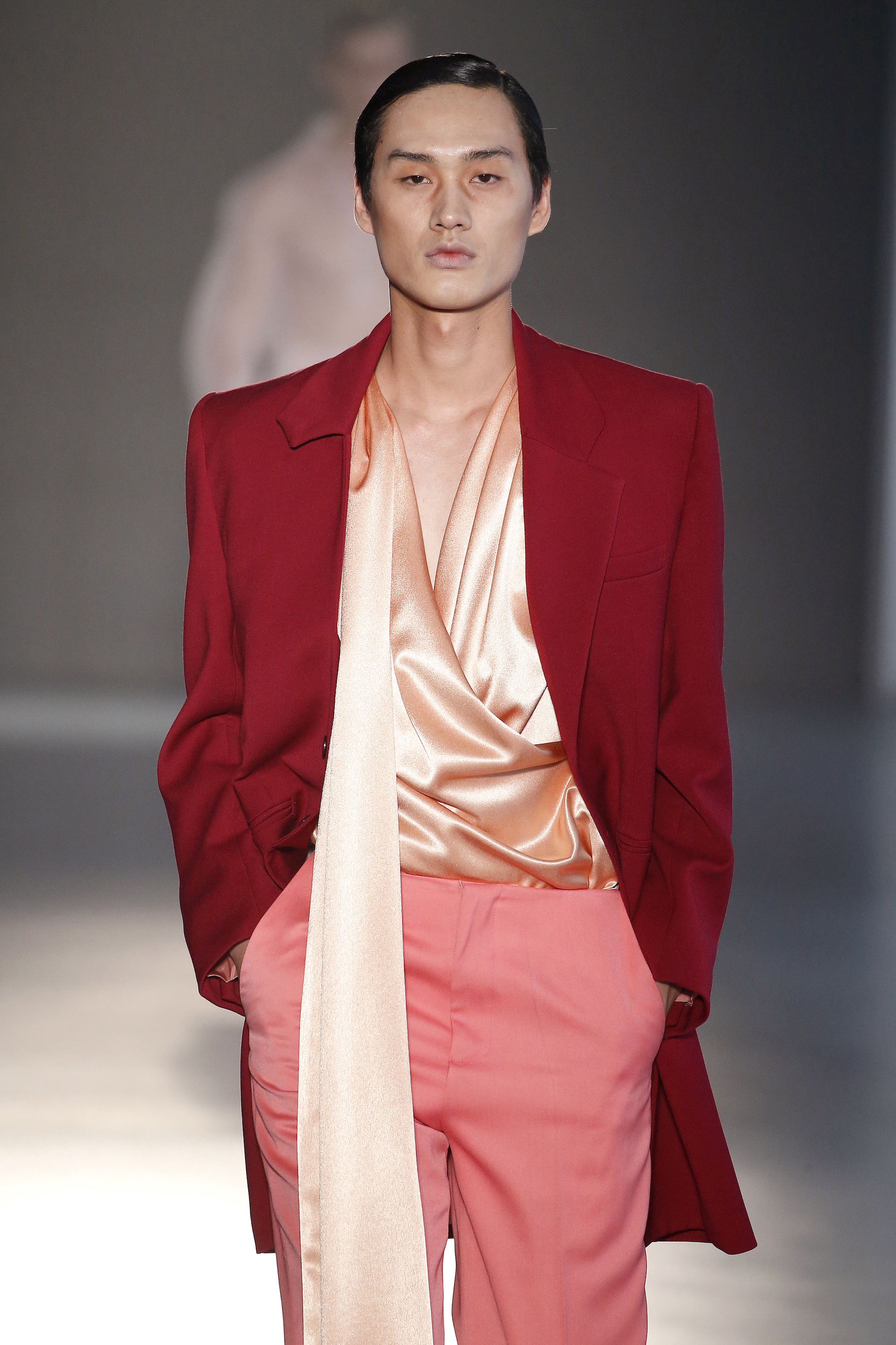 Mans Concept & Menswear at Barcelona Fashion Week red blazer
