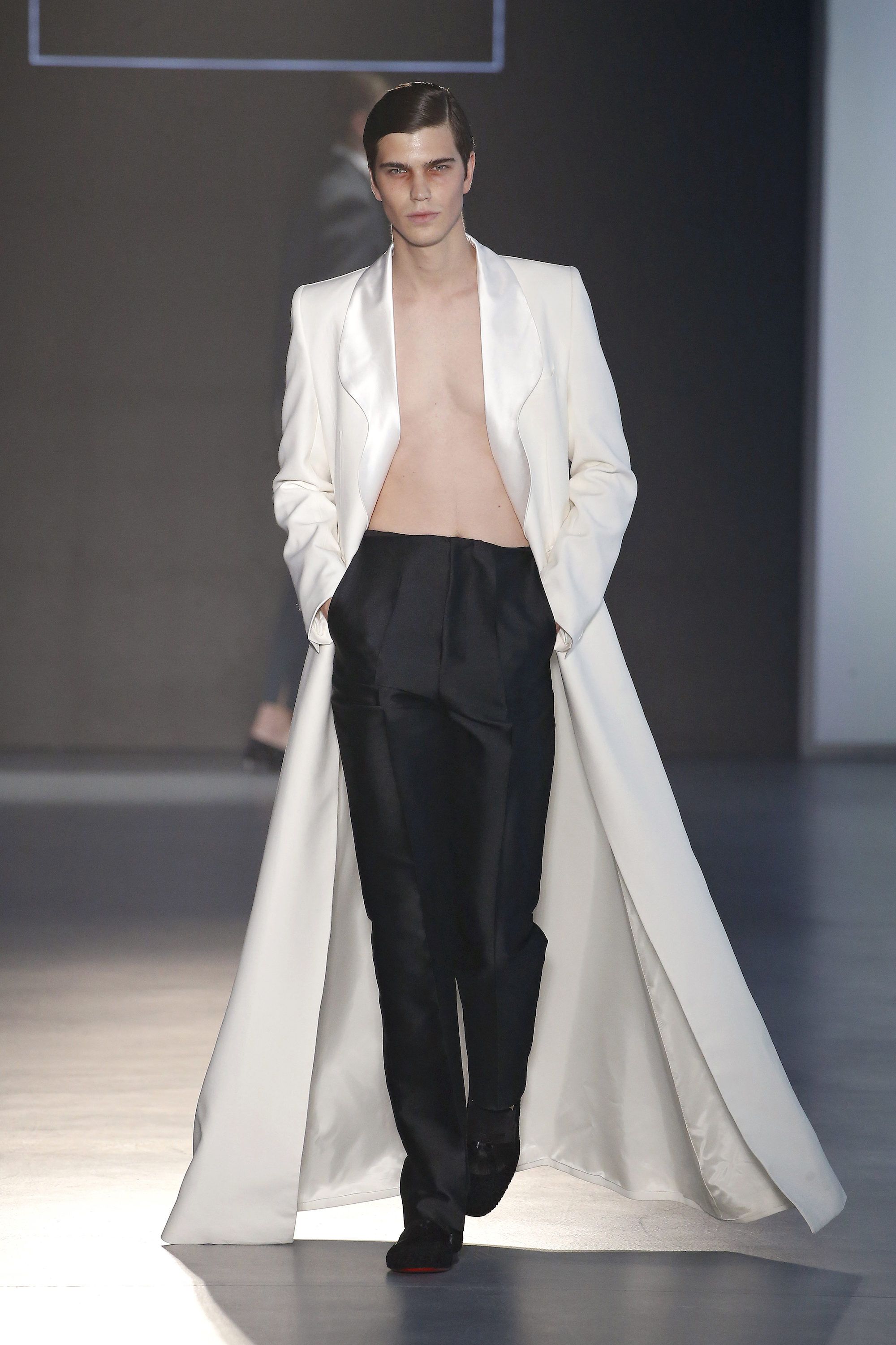 Mans Concept & Menswear at Barcelona Fashion Week white tuxedo