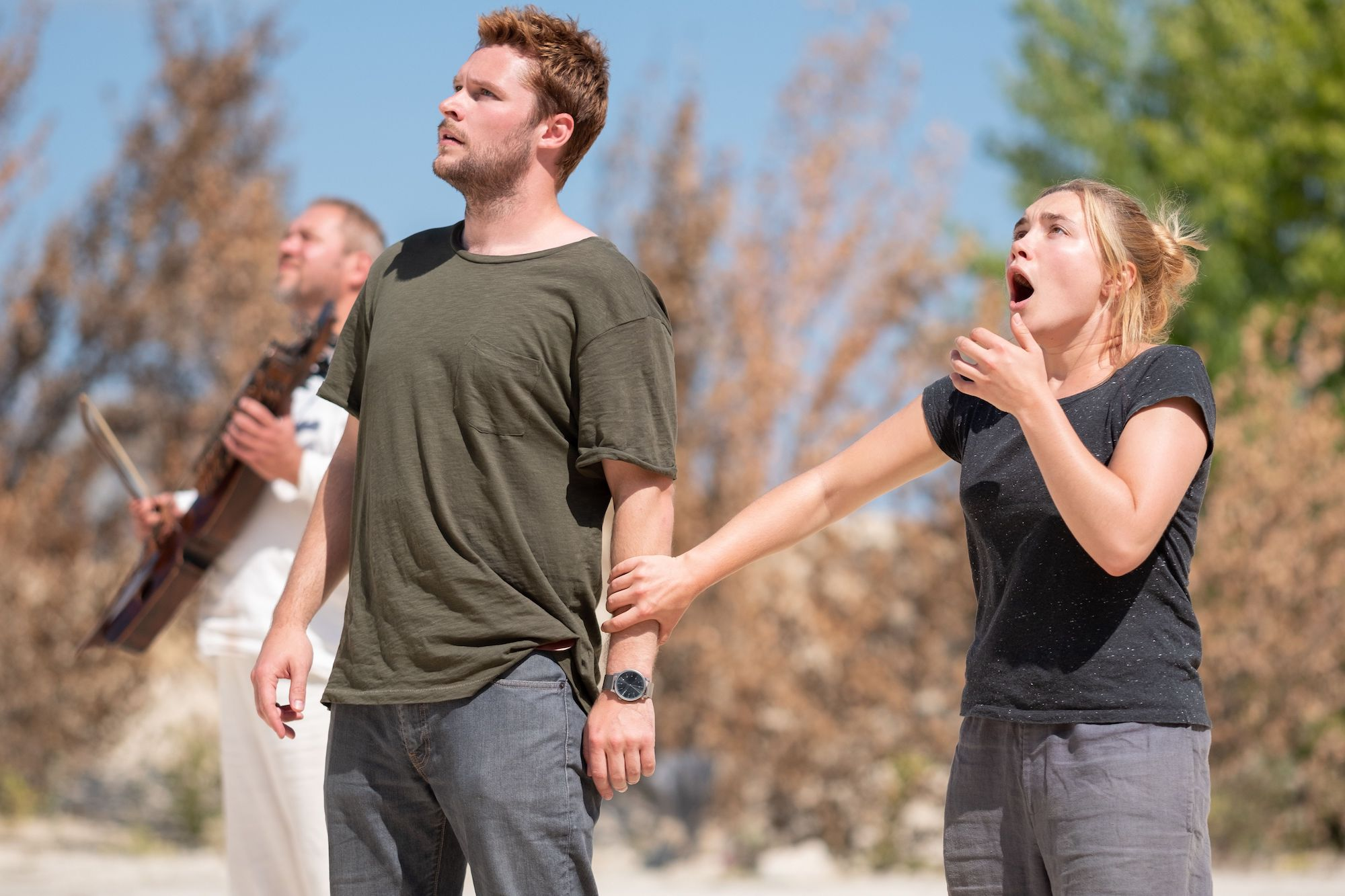Ari Aster's Midsommar film Florence Pugh and jack Reynor shock