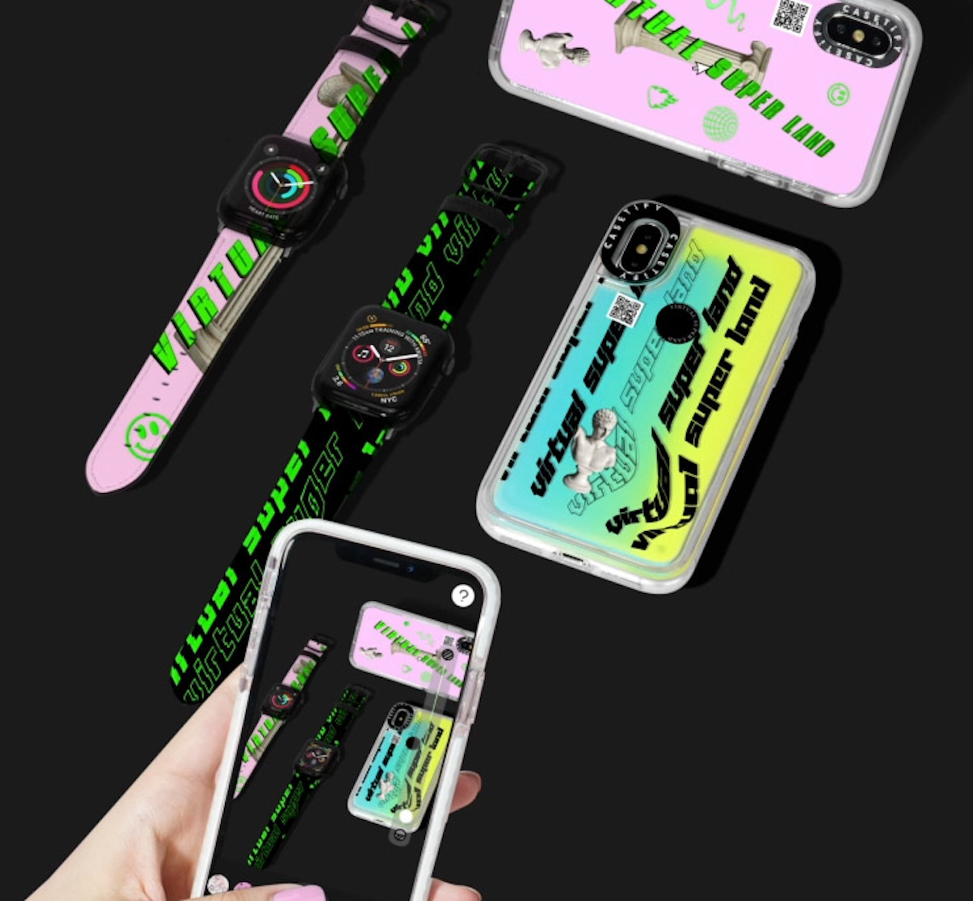 Wonderland commercial virtual super land x CASETiFY phone cases and watch straps and app