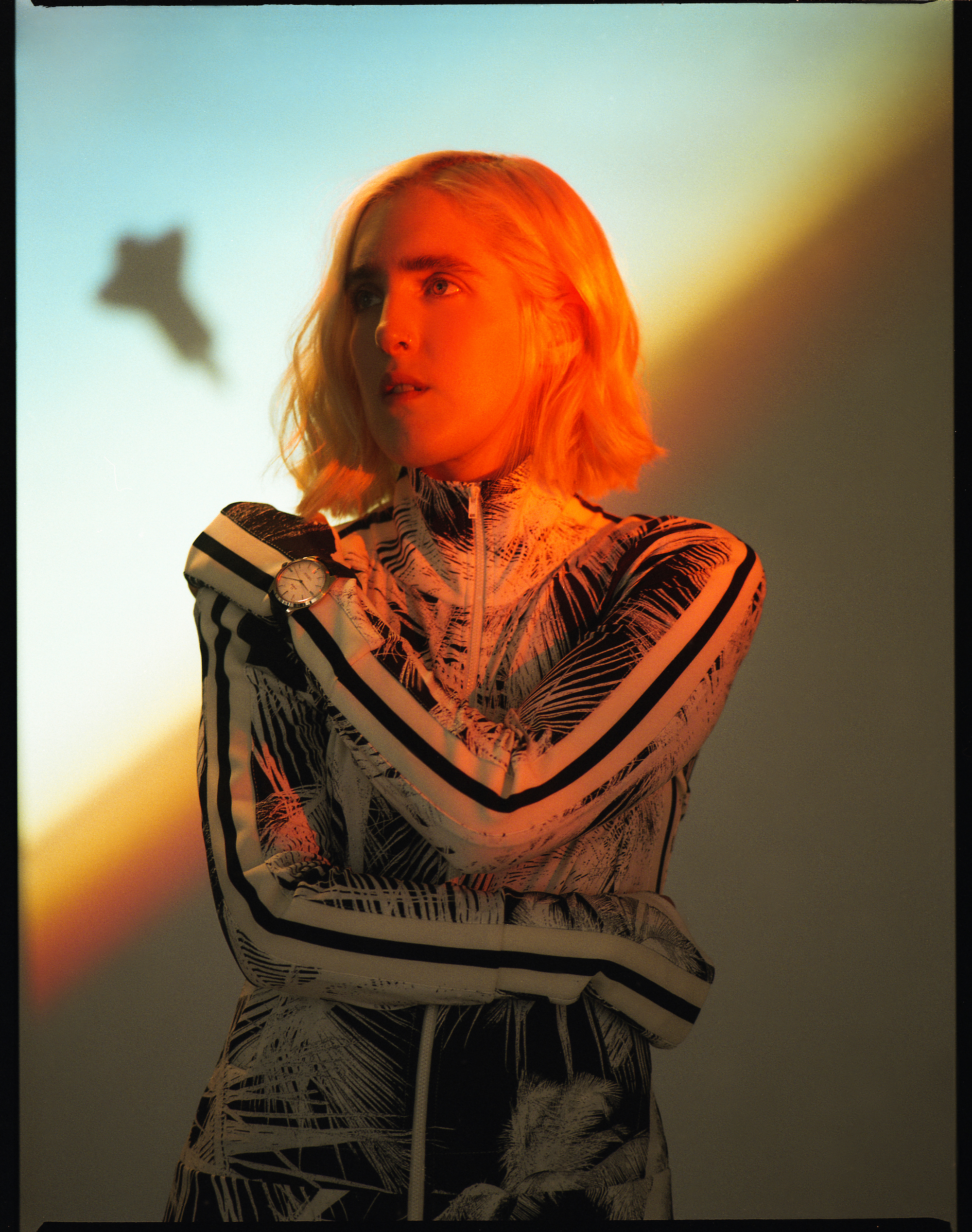 Singer Shura in the Omega Zine in the Summer 19 issue of Wonderland zip-up