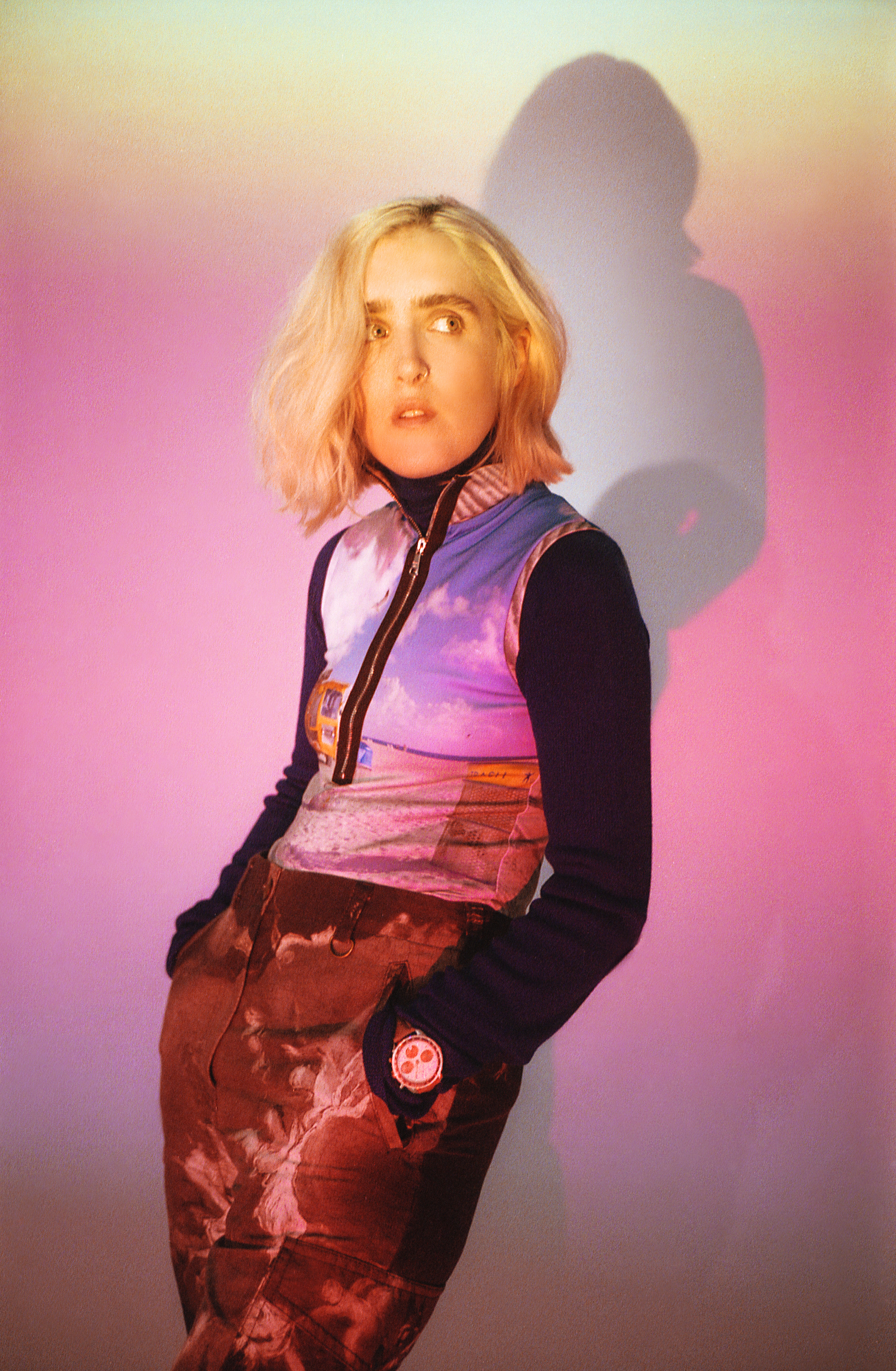 Singer Shura in the Omega Zine in the Summer 19 issue of Wonderland vest