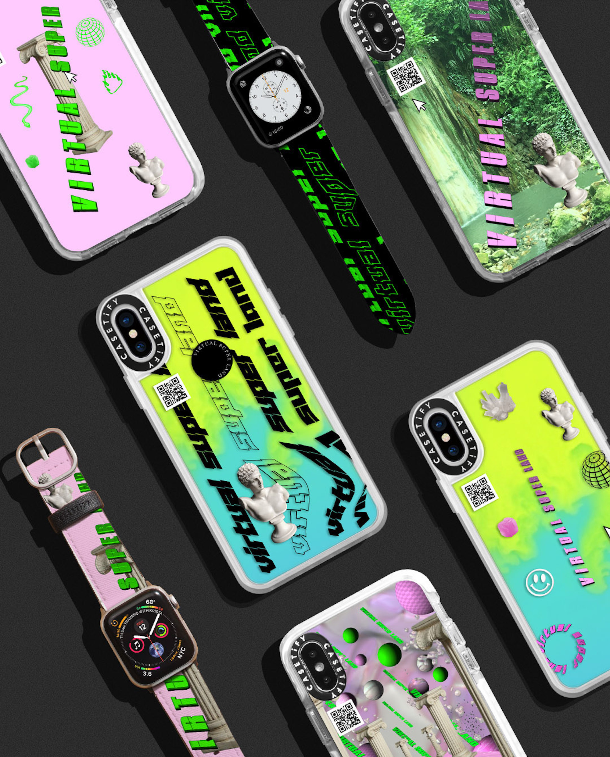 Wonderland commercial virtual super land x CASETiFY phone cases and watch straps
