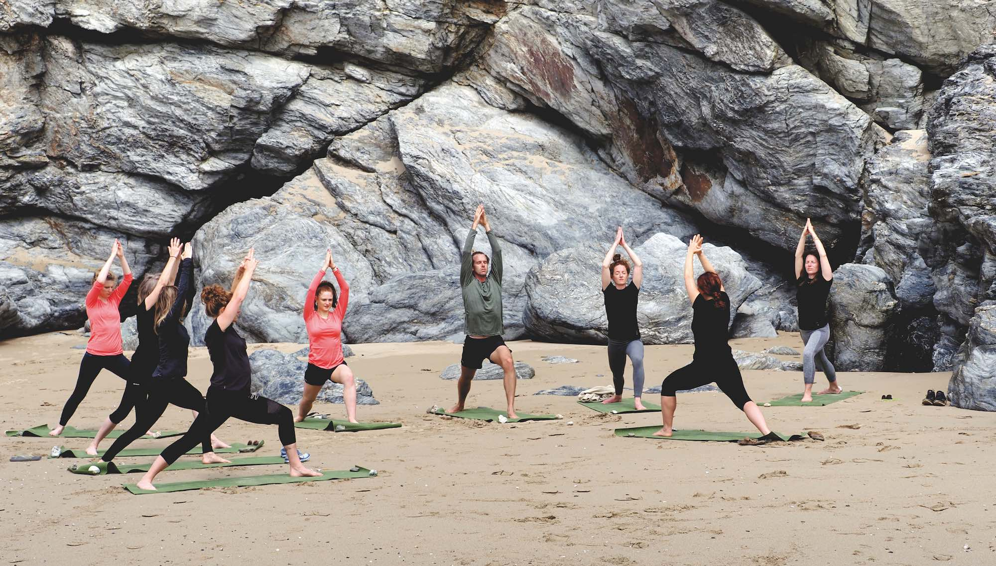 campaign for wool yoga wear