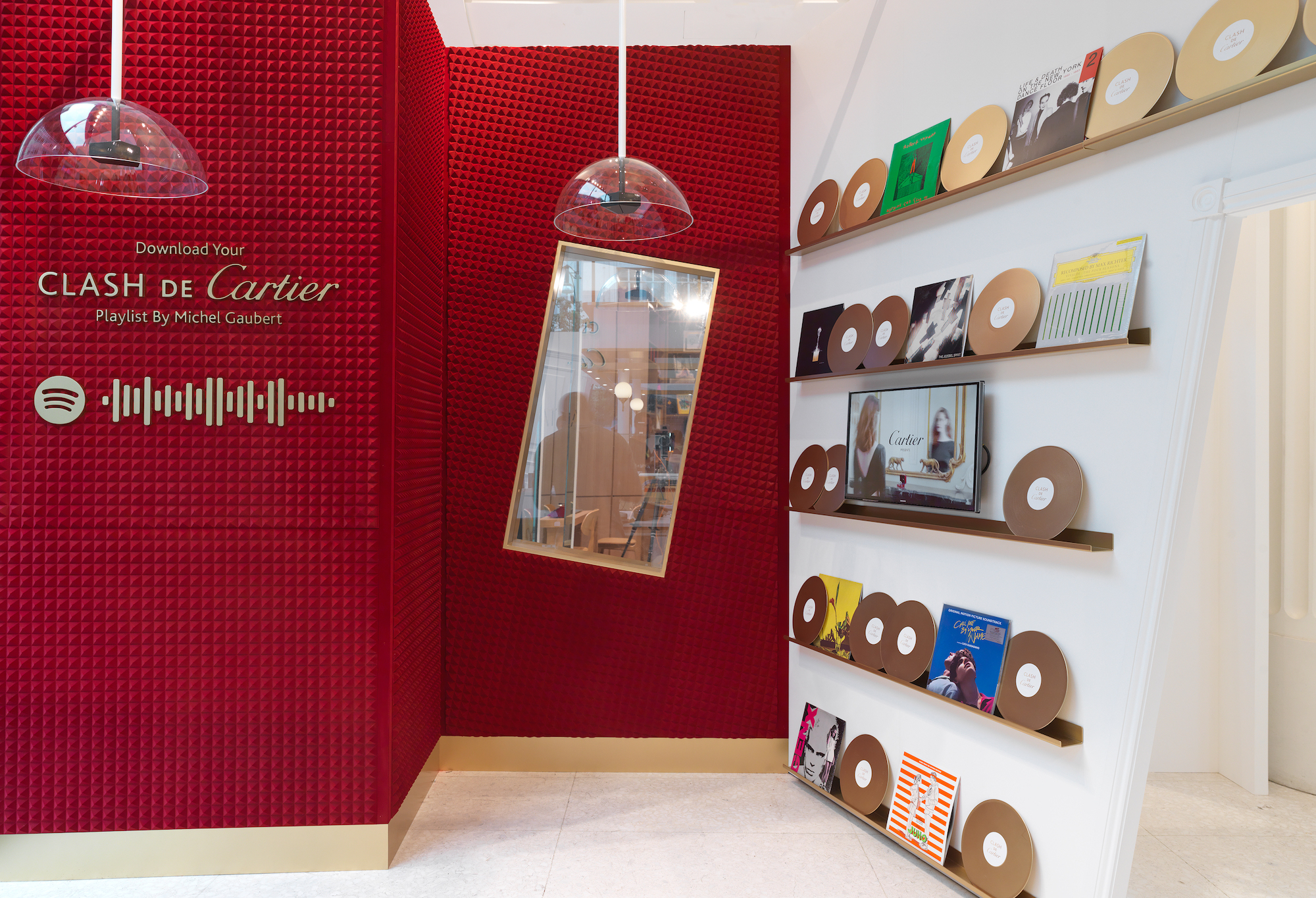 Wonderland magazine Clash de Cartier pop-up Selfridges playlist room
