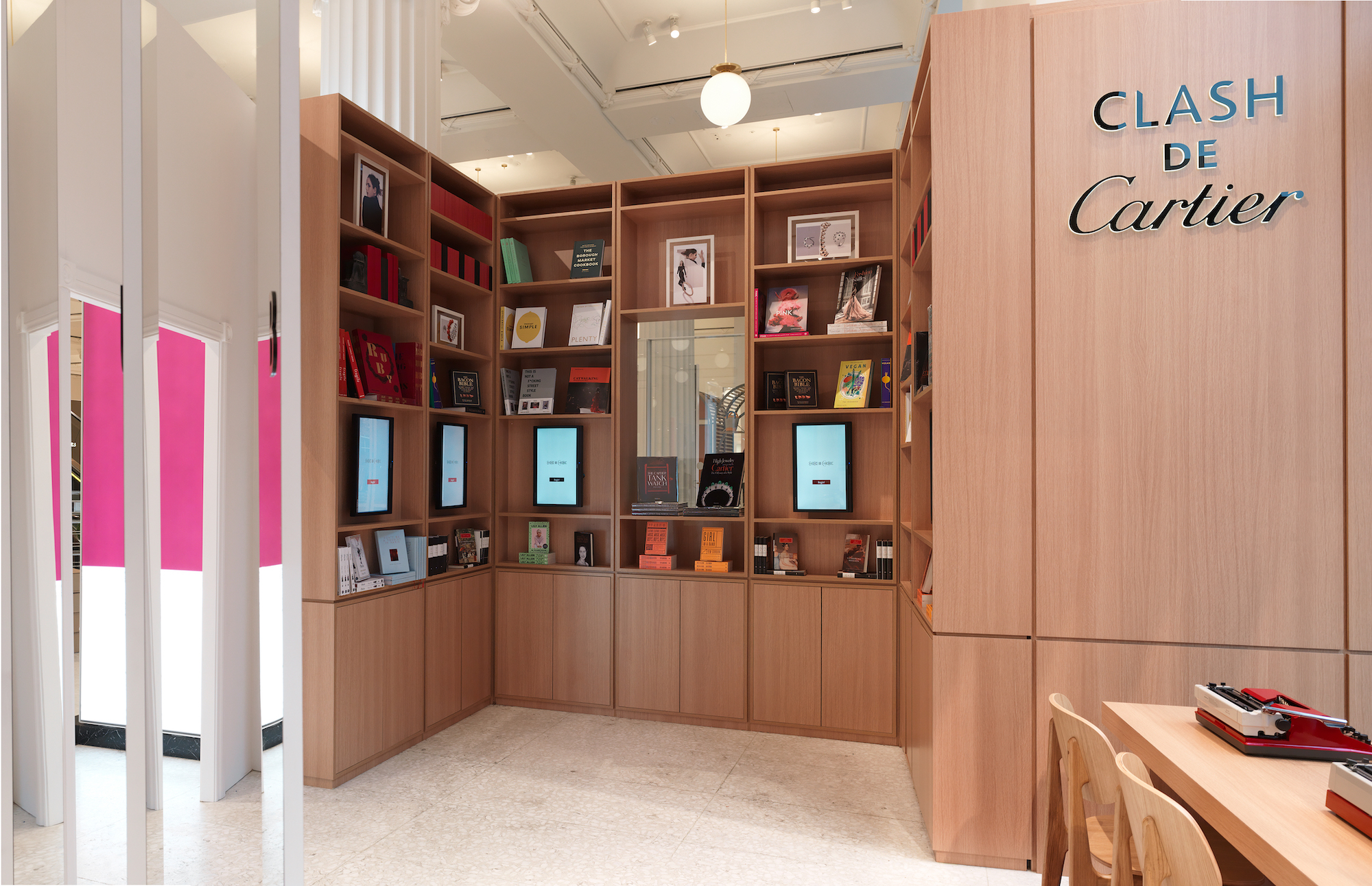 Wonderland magazine Clash de Cartier pop-up Selfridges books